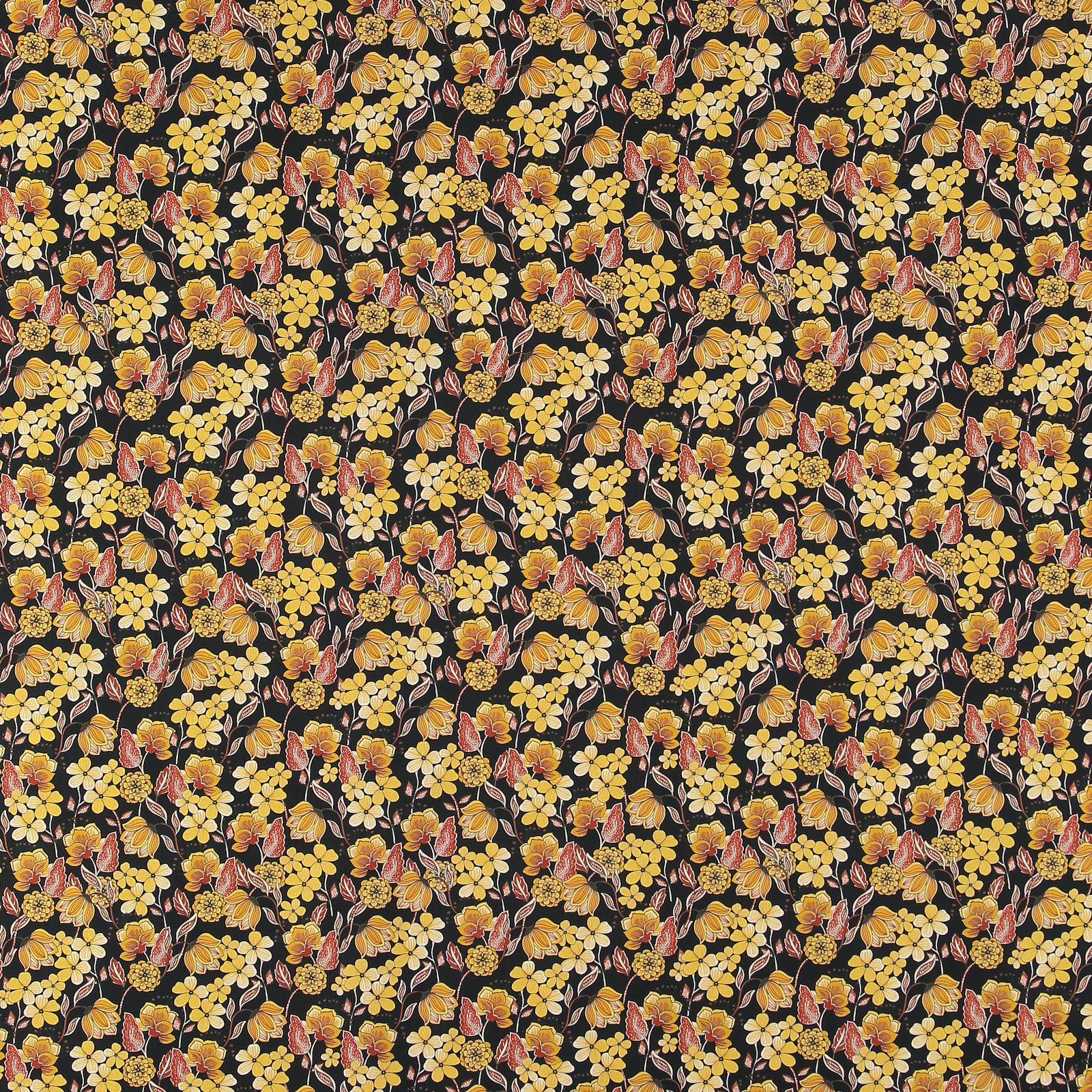 Woven cotton satin black w.yellow flower 460853_pack_sp