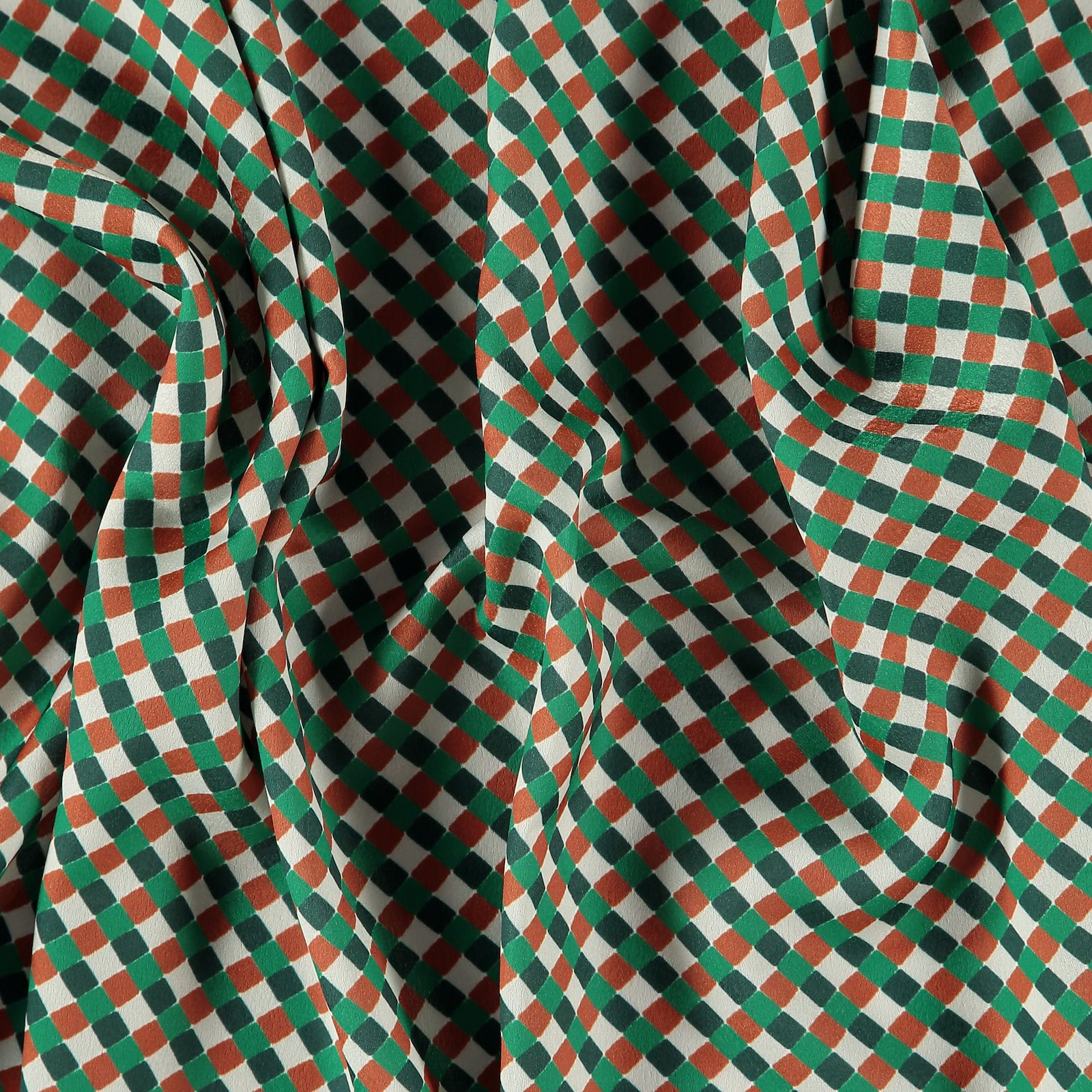 Woven crepe nature/brown/green check 560256_pack