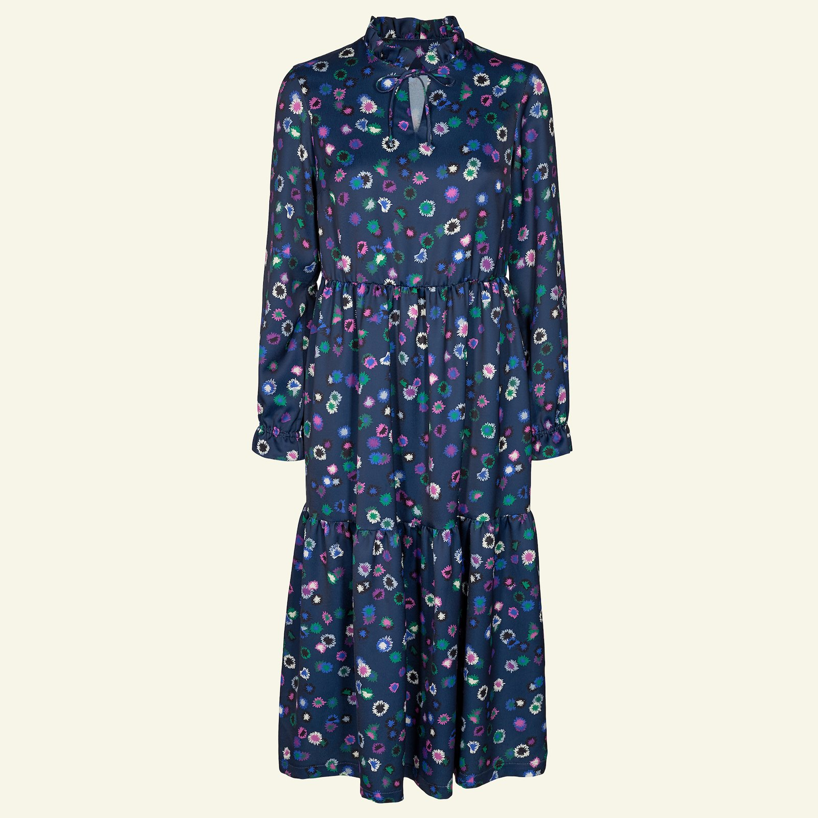 Woven crepe navy with flowers p23159_560255_sskit