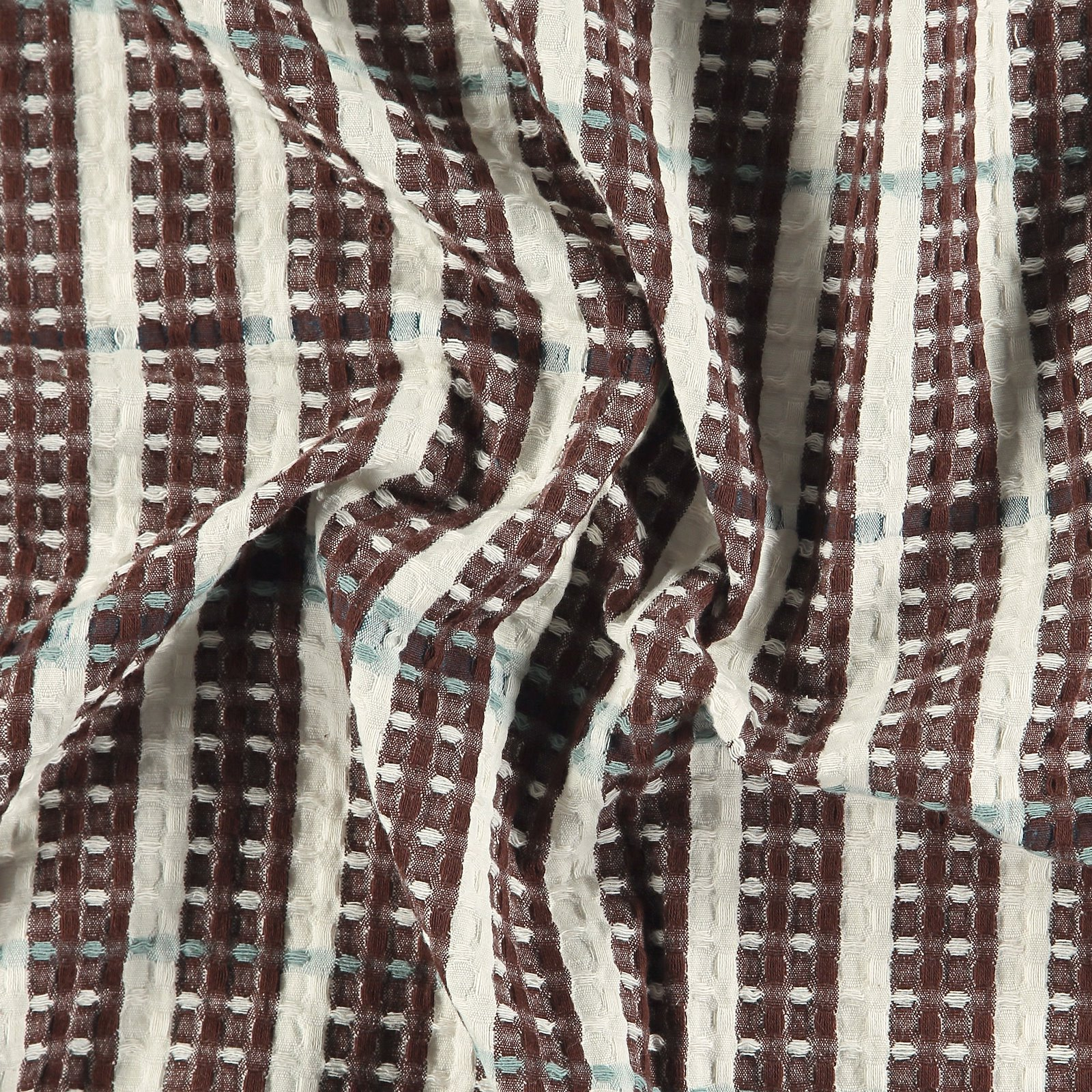 Woven jacquard YD brown/white stripes 501899_pack