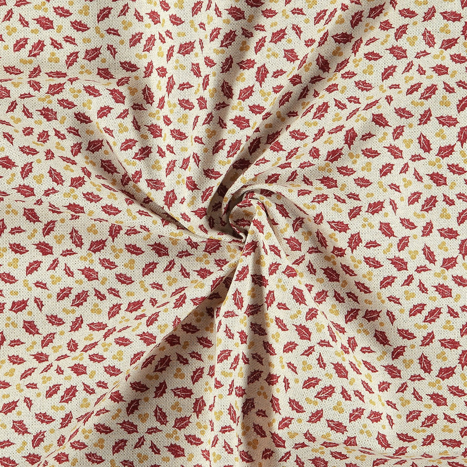 Woven nature w gold lurex /red holly 895947_pack