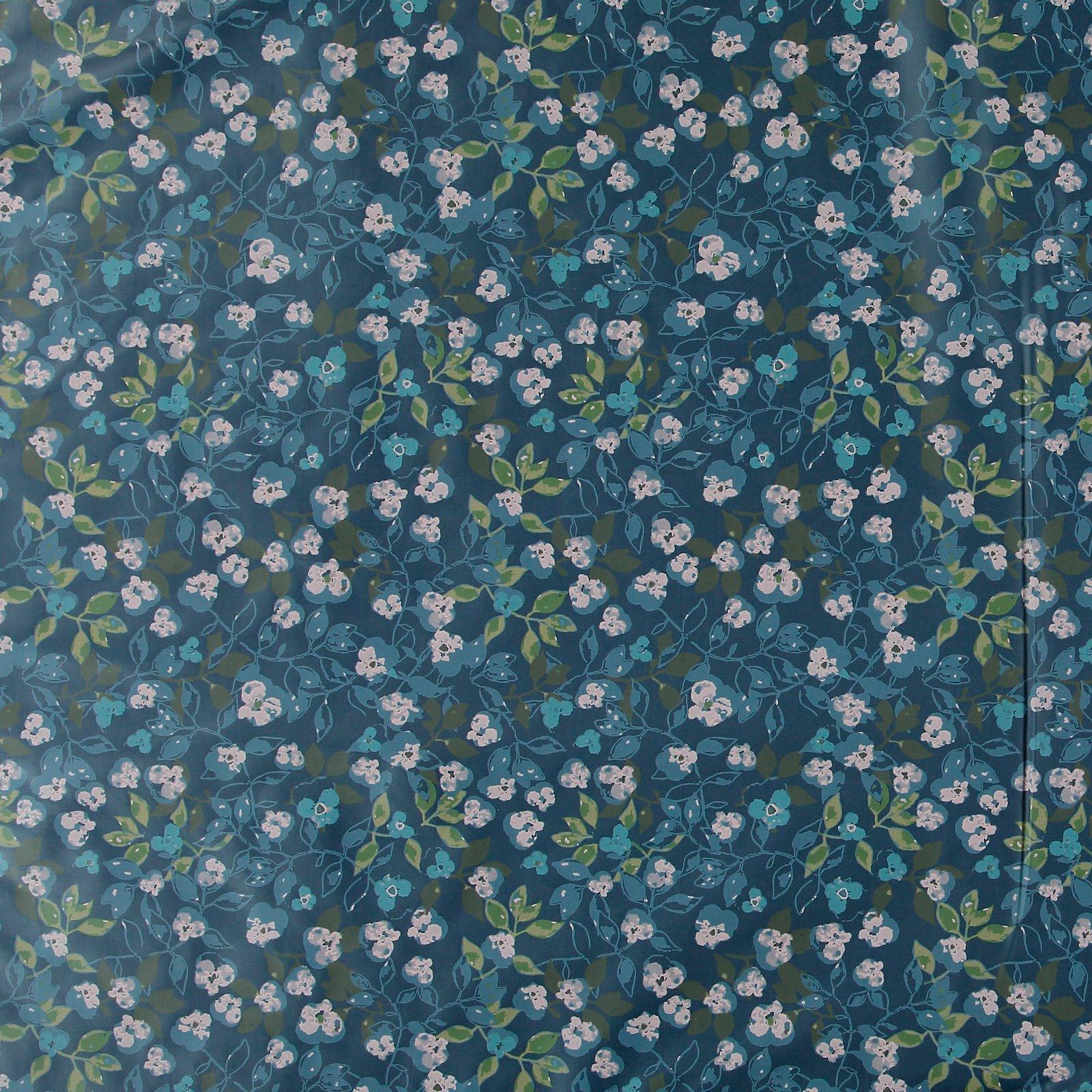 Woven oil cloth dark dusty blue w flower 866134_pack_sp