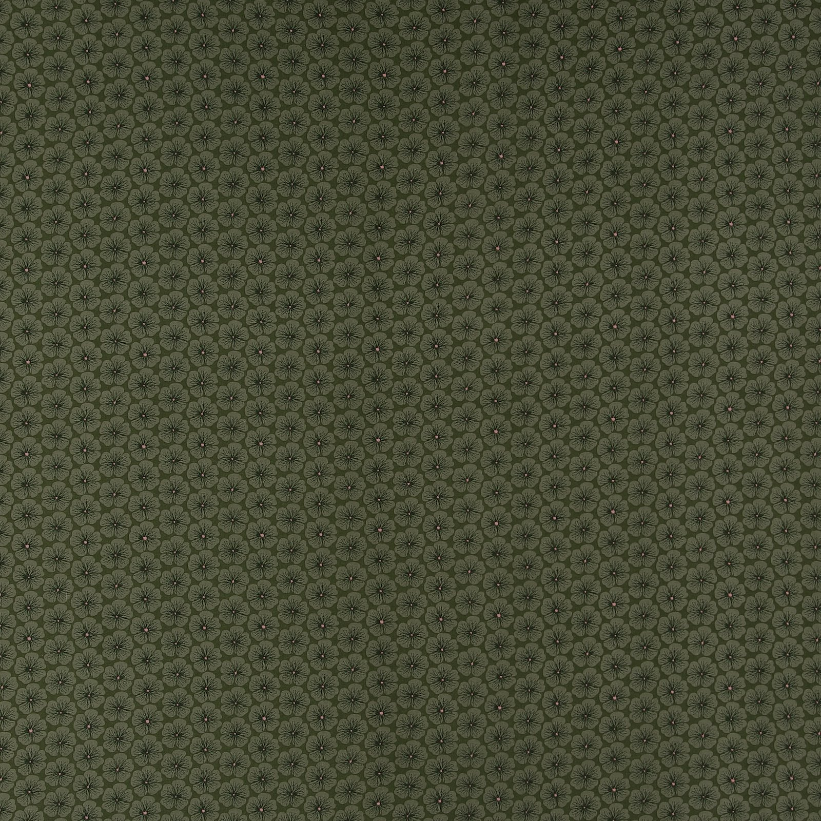 Woven viscose army green with flowers 710573_pack_sp
