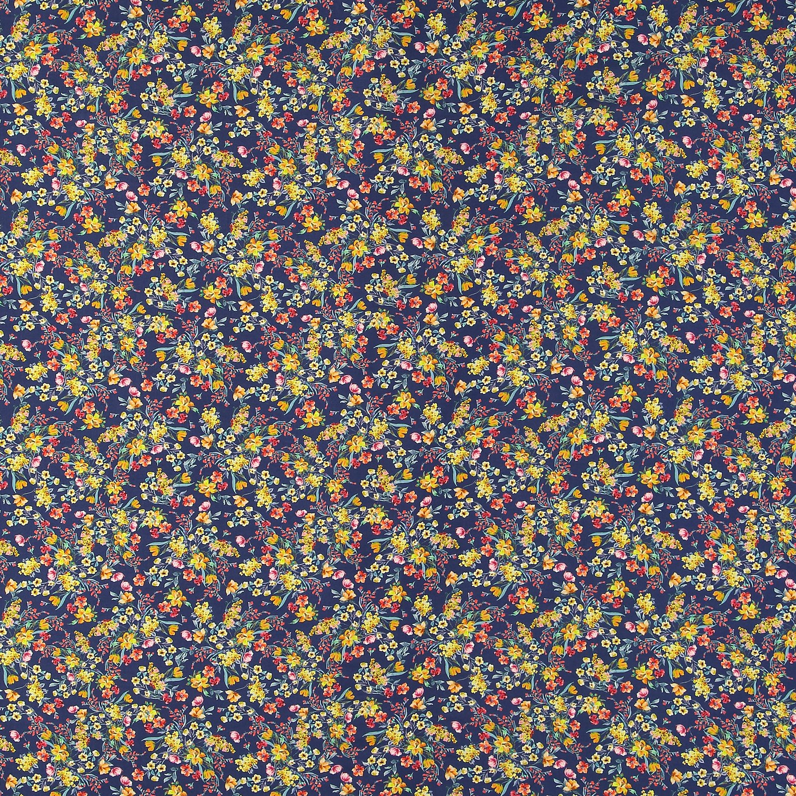 Woven viscose dark blue w small flowers 710642_pack_sp