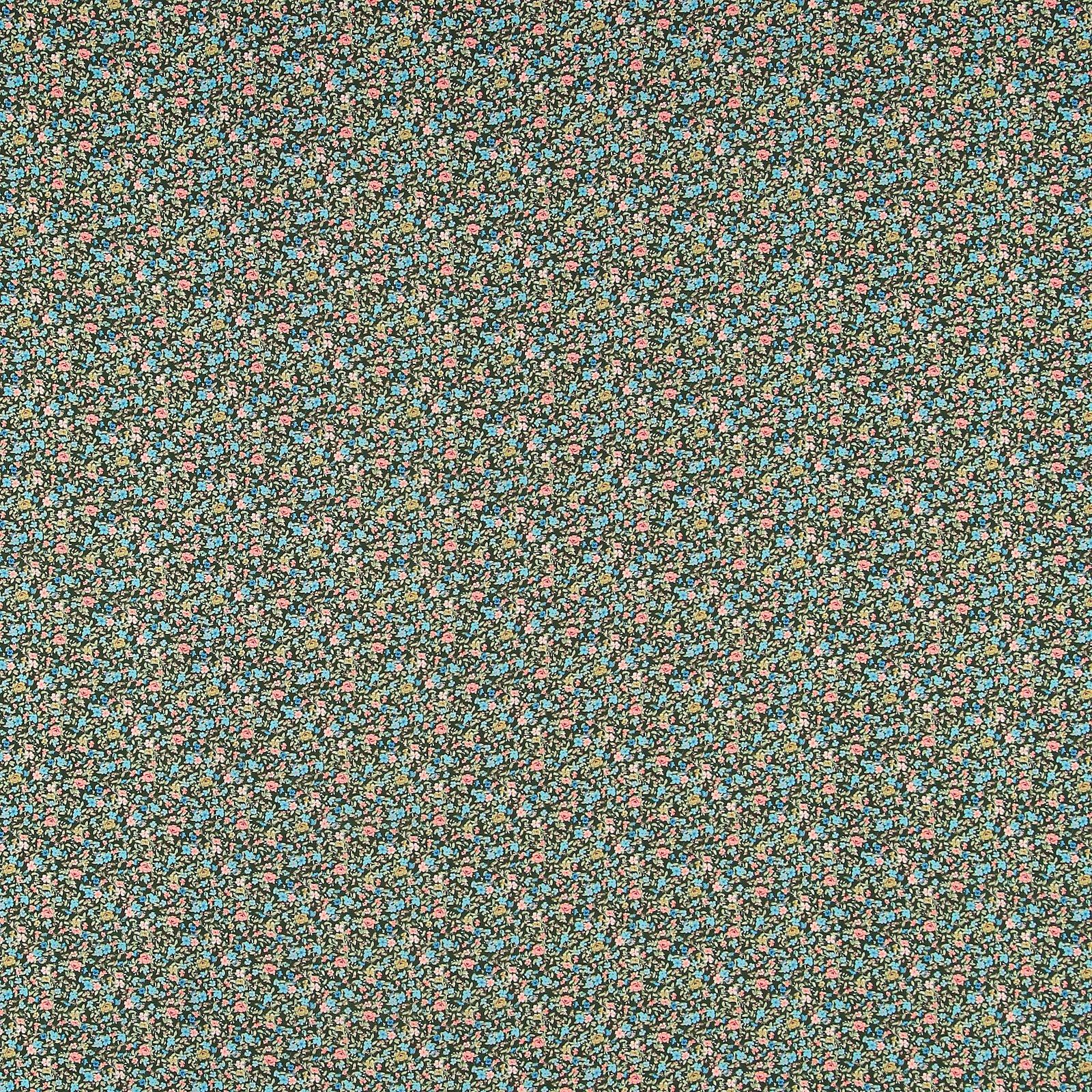 Woven viscose dark green w petite flower 710641_pack_sp