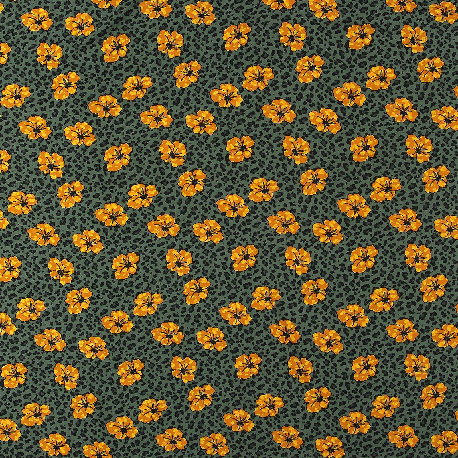 Woven viscose dusty darkgreen leo/flower 710582_pack_sp