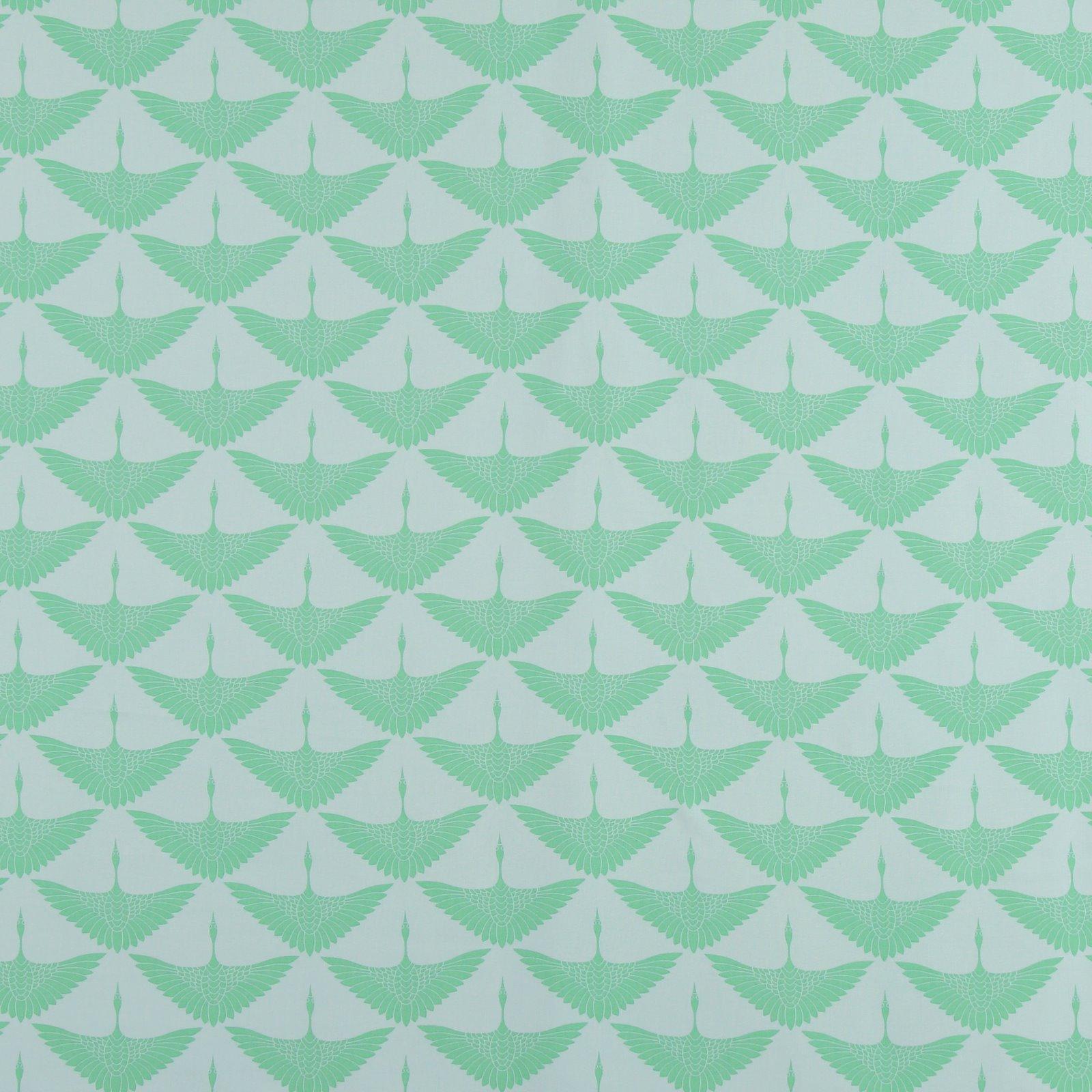 Woven viscose mint w crane 710615_pack_sp