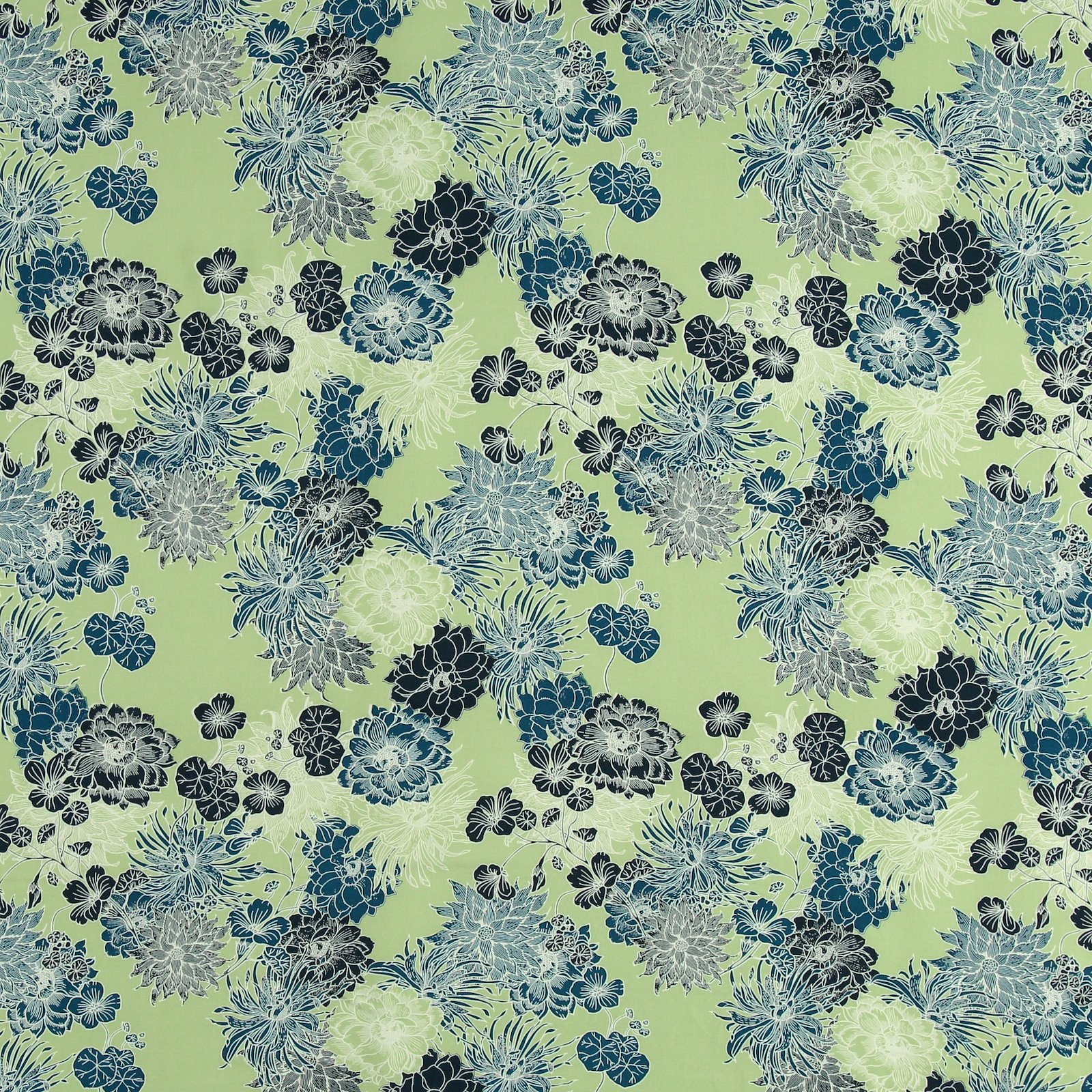 Woven viscose mint with big flowers 710628_pack_sp