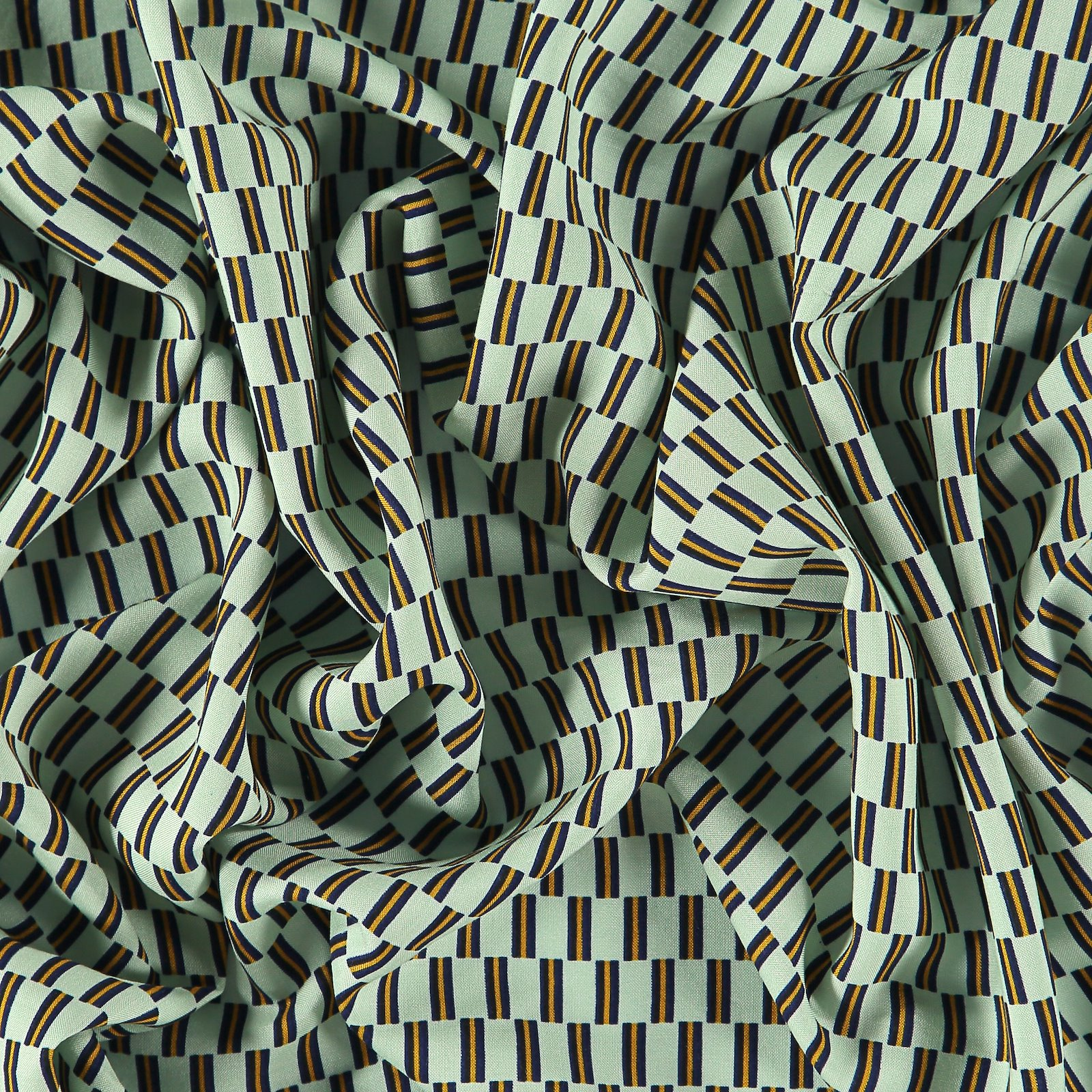 Woven viscose mint with brick stripe 710627_pack