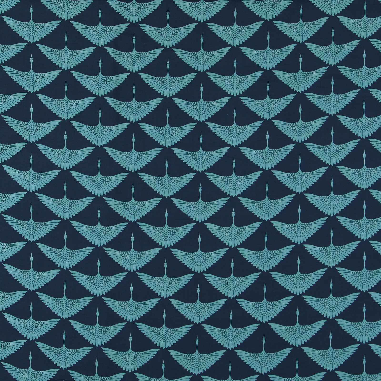 Woven viscose navy with petrol crane 710609_pack_sp