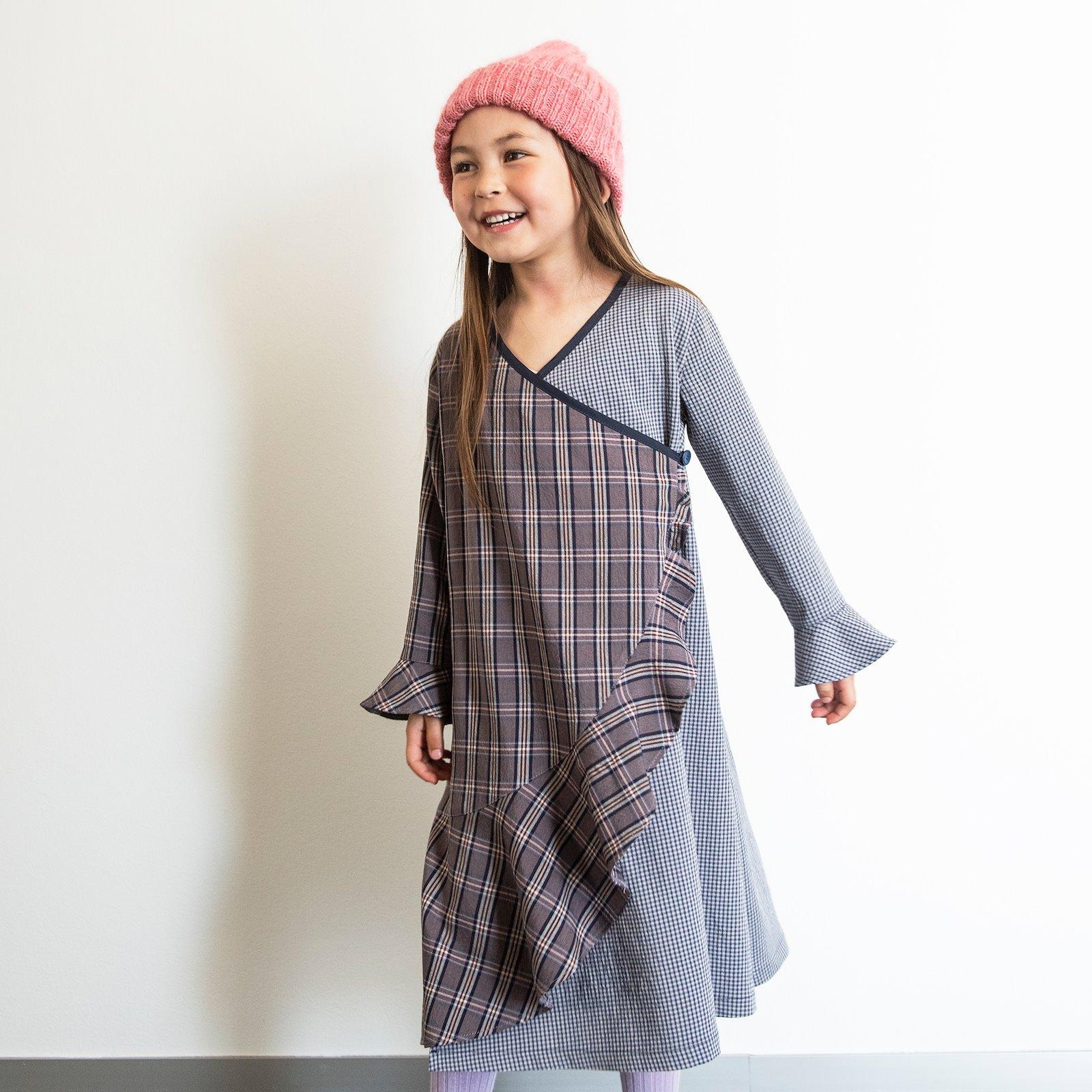 Woven wool blue petite YD check p63067_300219_300220_64082_33459_sskit