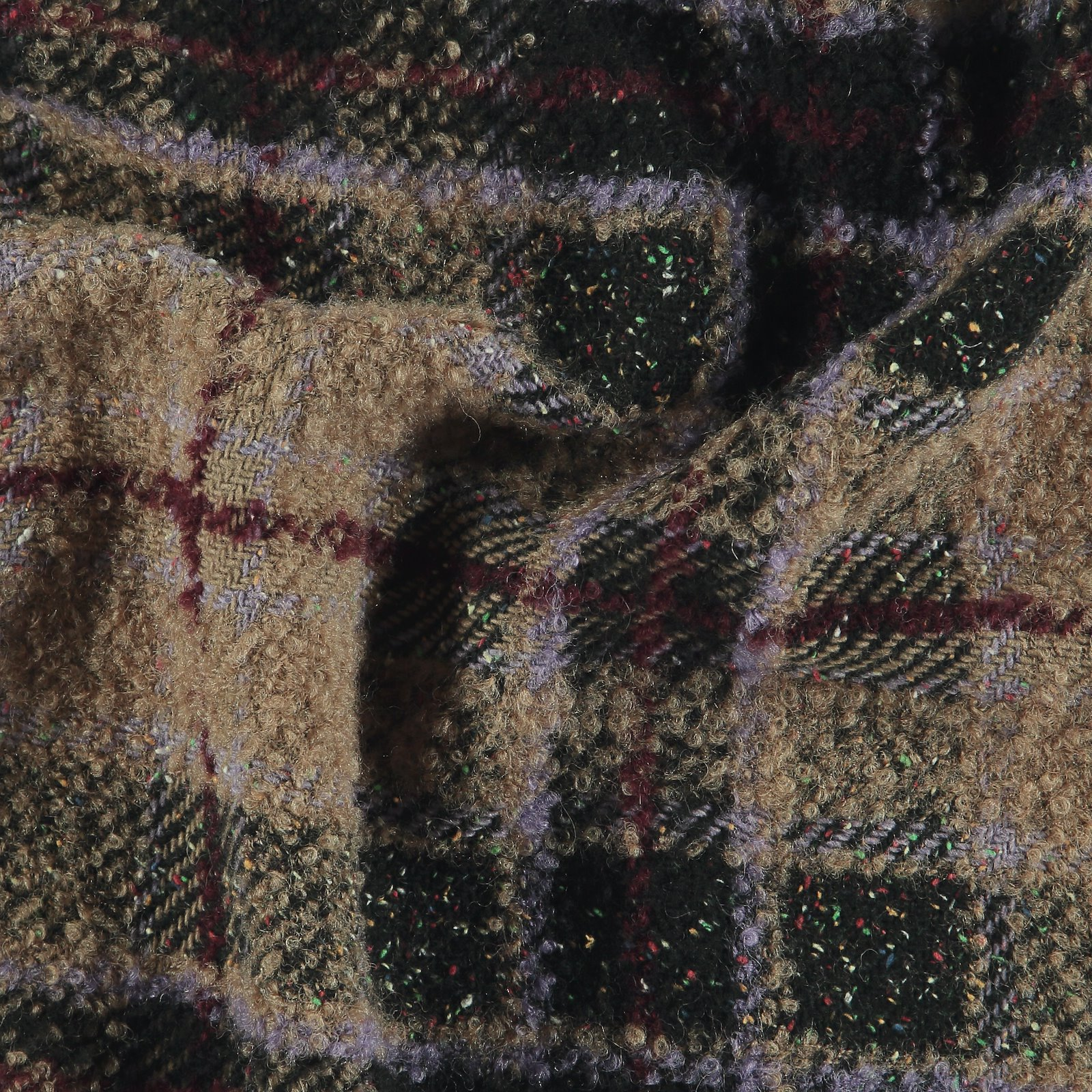 Woven wool boucle w multicolor YD check 300228_pack