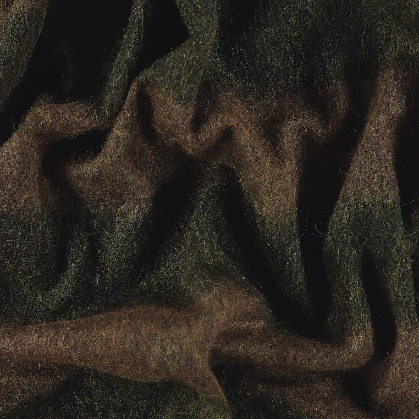 Woven wool brown/green block stripe 300194_pack