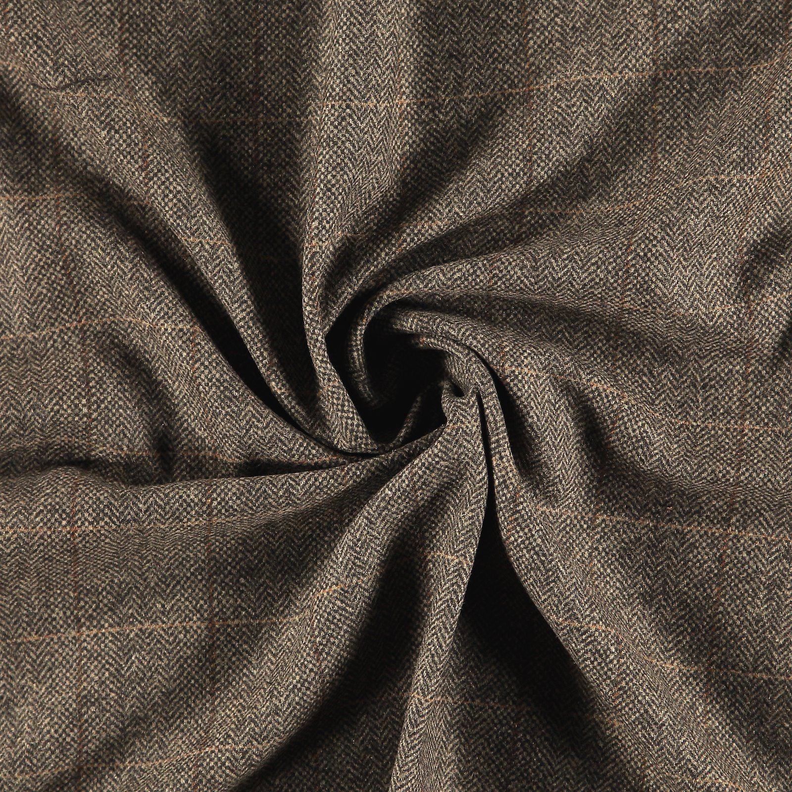 Woven wool with brown petite YD check 300221_pack
