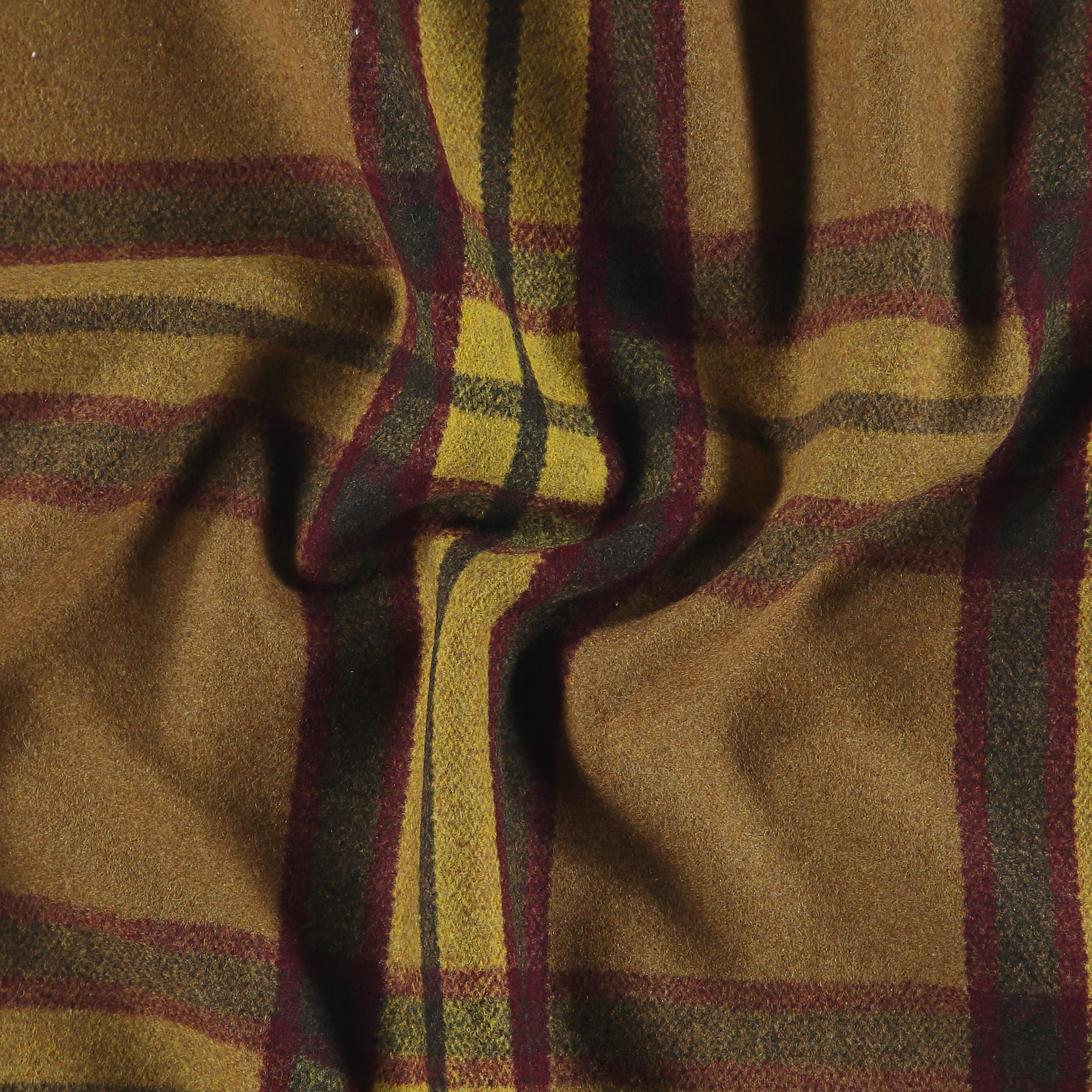 Woven wool with yellow and red YD check 300223_pack