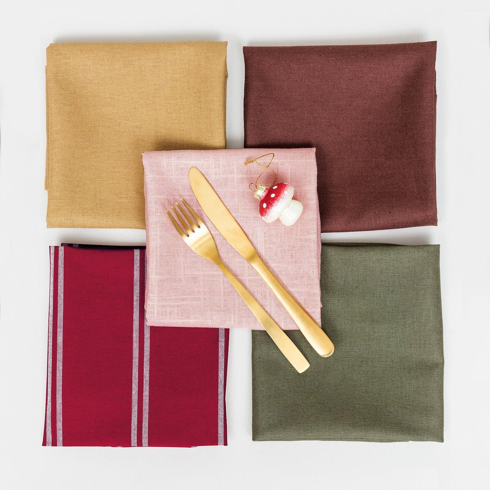 Woven yarn dyed red/off white stripe DIY8003_410144_816257_410146_410145_bundle