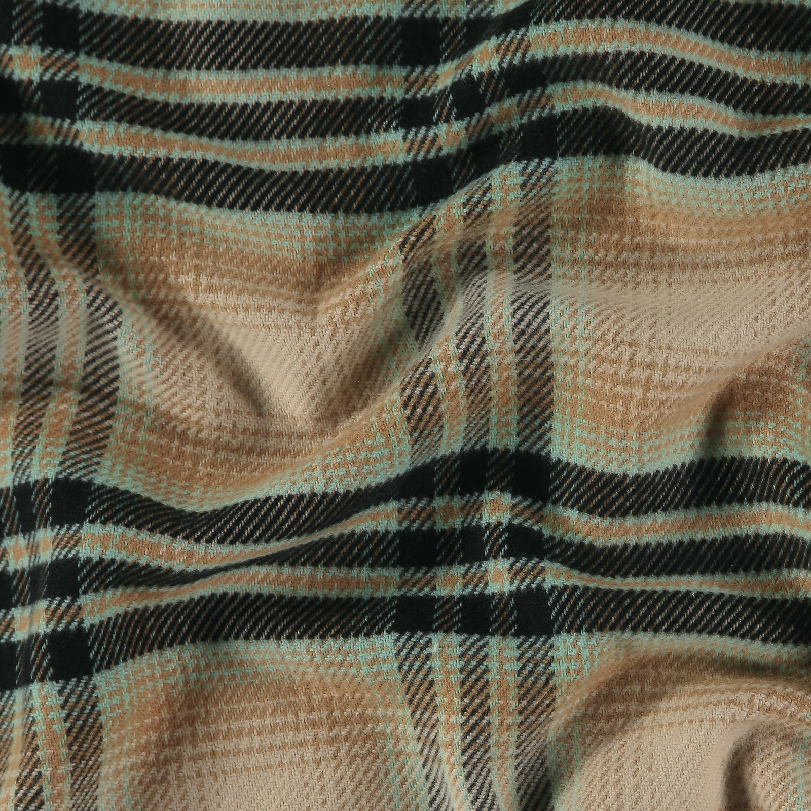Woven YD check mint/sand brushed surface 400320_pack