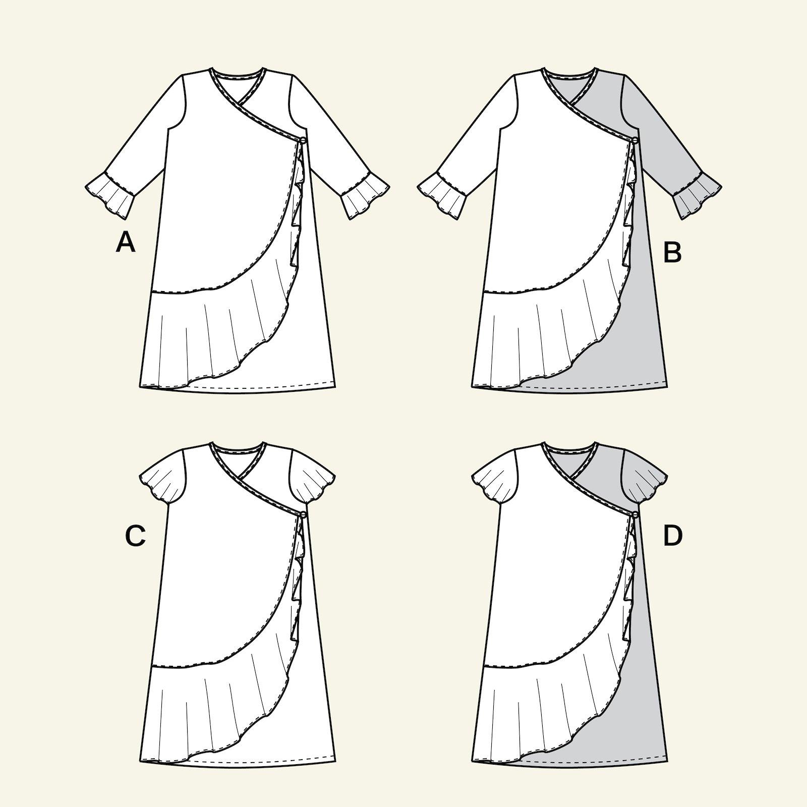 Wrap around dress, 104/4y p63067_pack