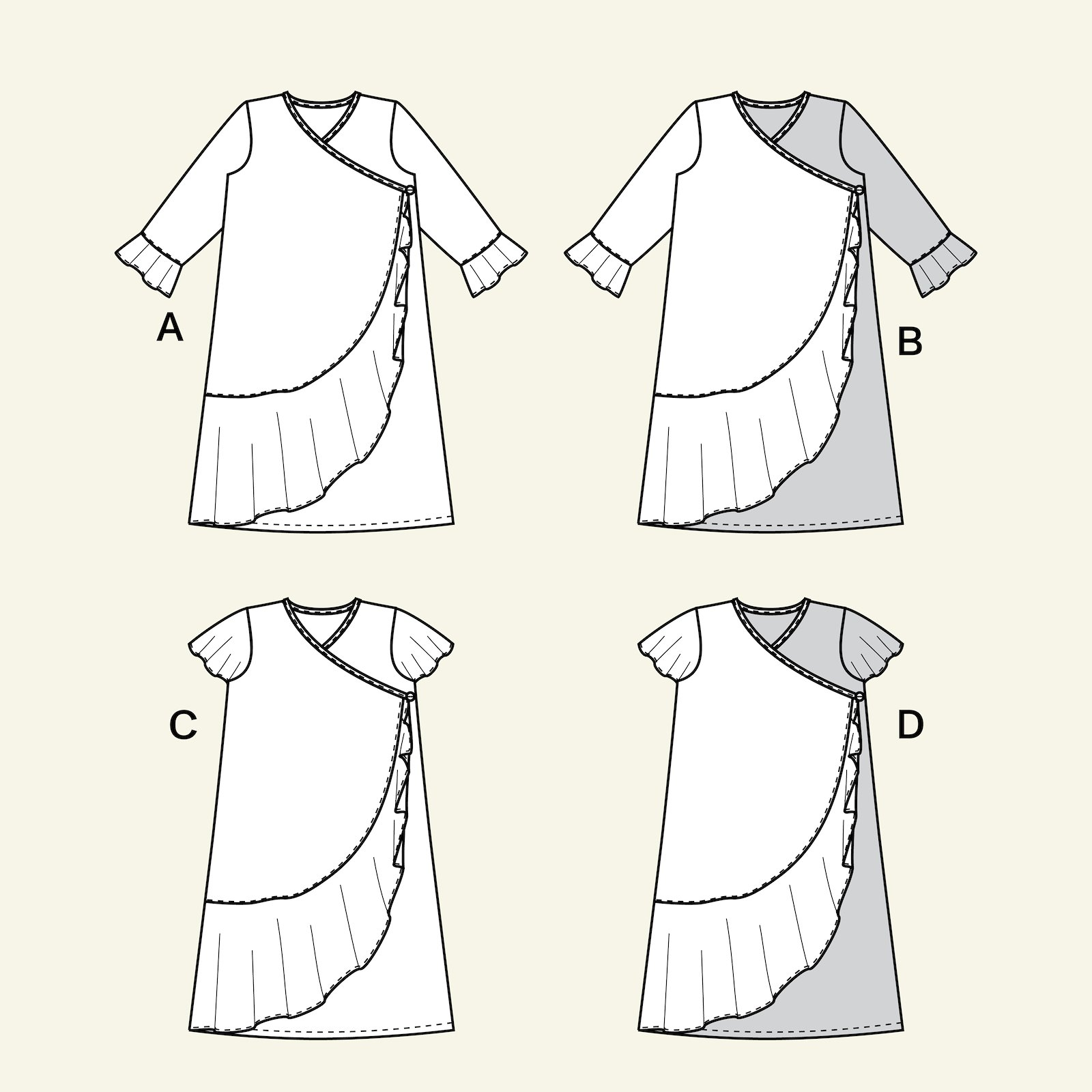 Wrap around dress, 98/3y p63067_pack