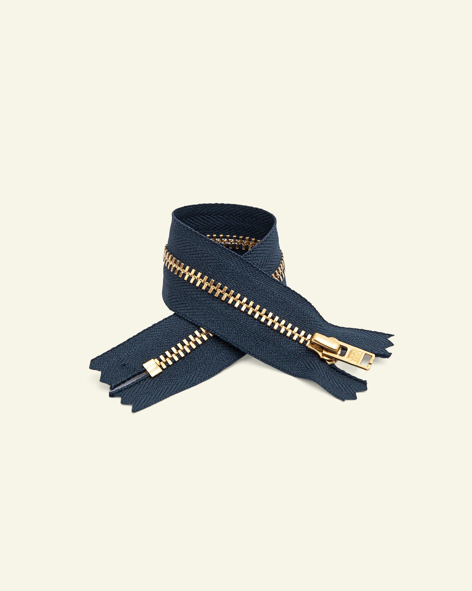 YKK zip 4mm metal trousers navy