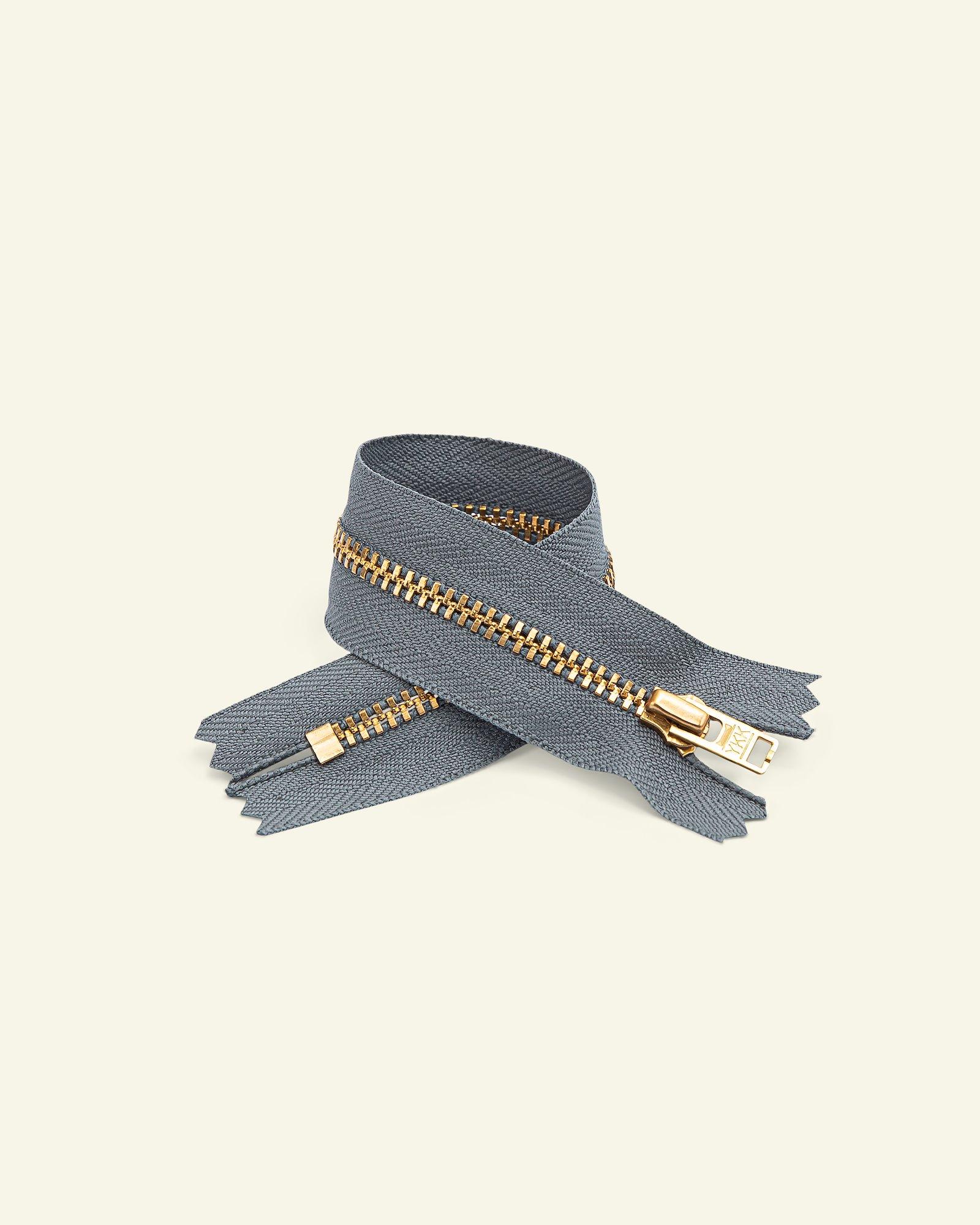 YKK zip 4mm metal trousers grey