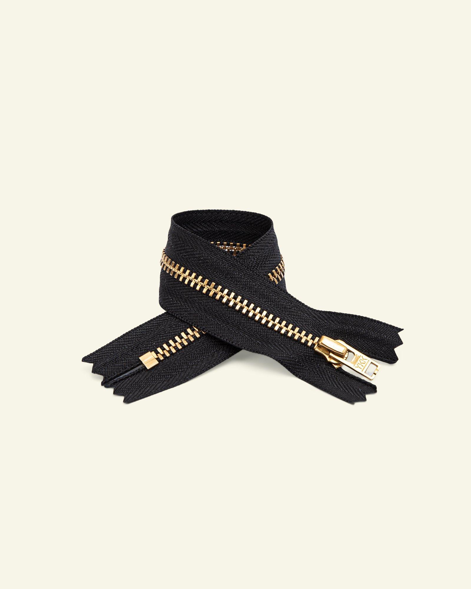 YKK zip 4mm metal trousers black