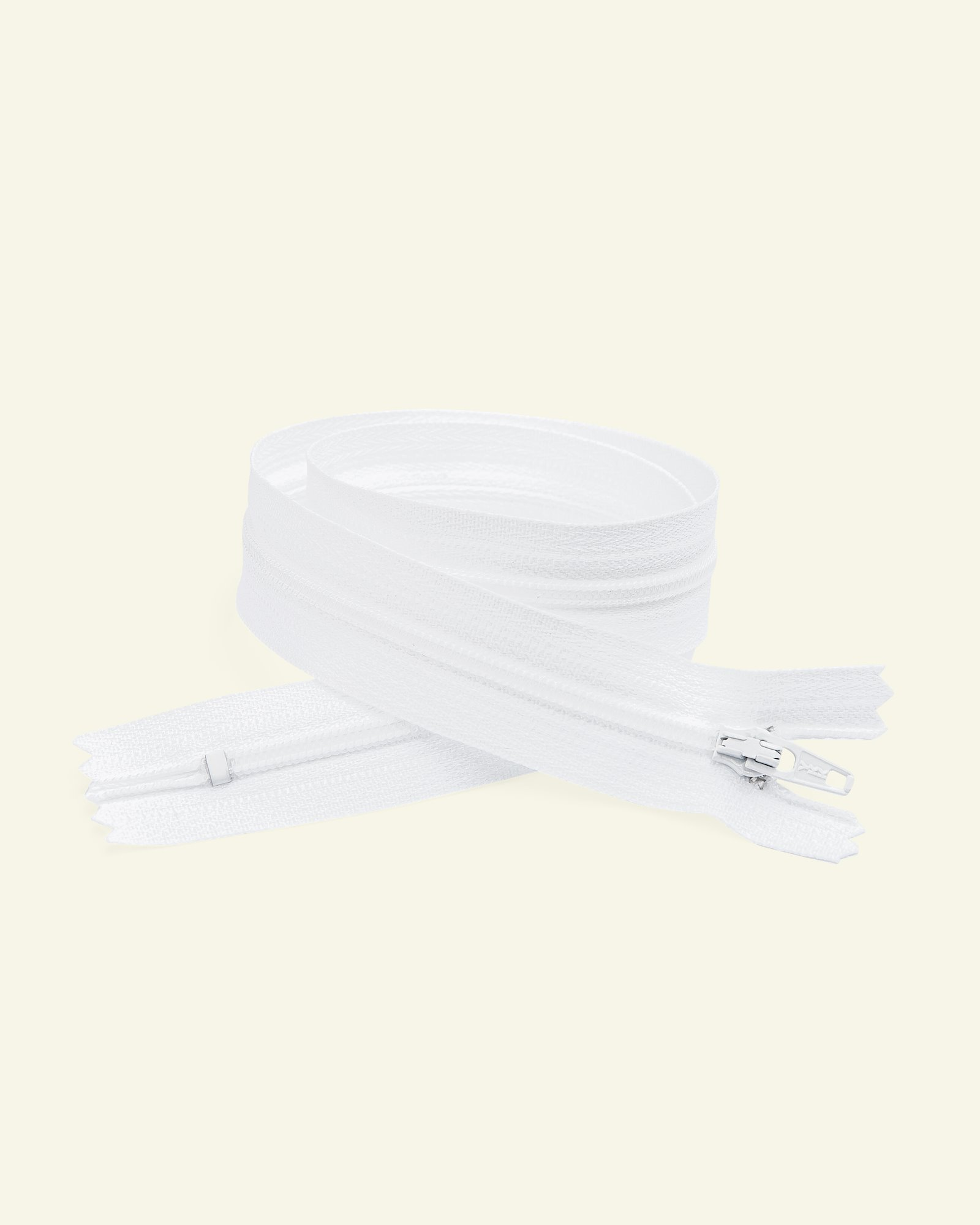 YKK zip 4mm coil closed end white