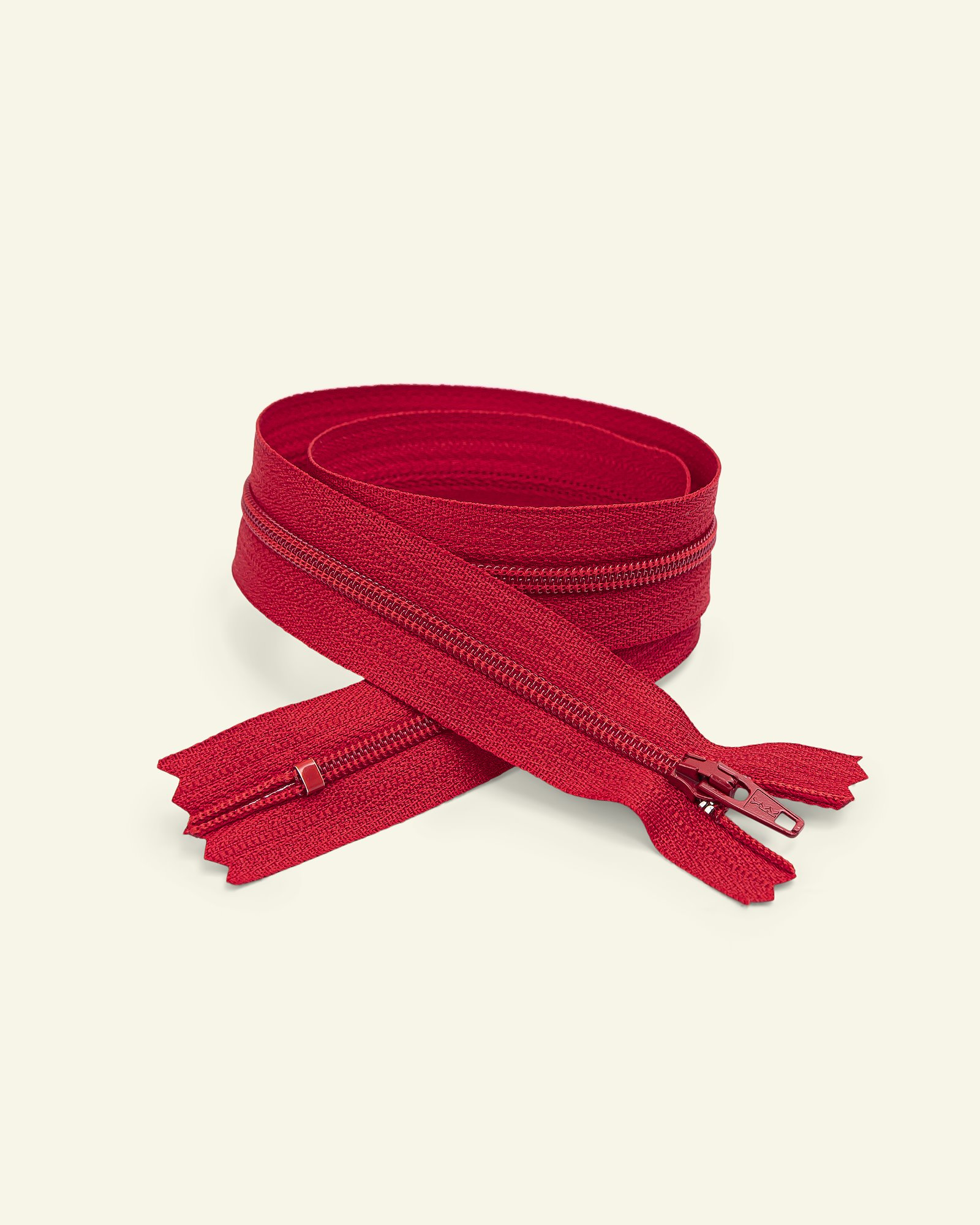 YKK zip 4mm coil closed end red
