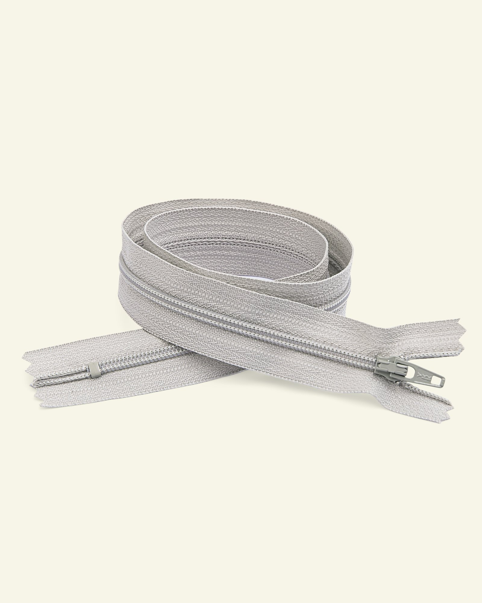YKK zip 4mm coil closed end light grey