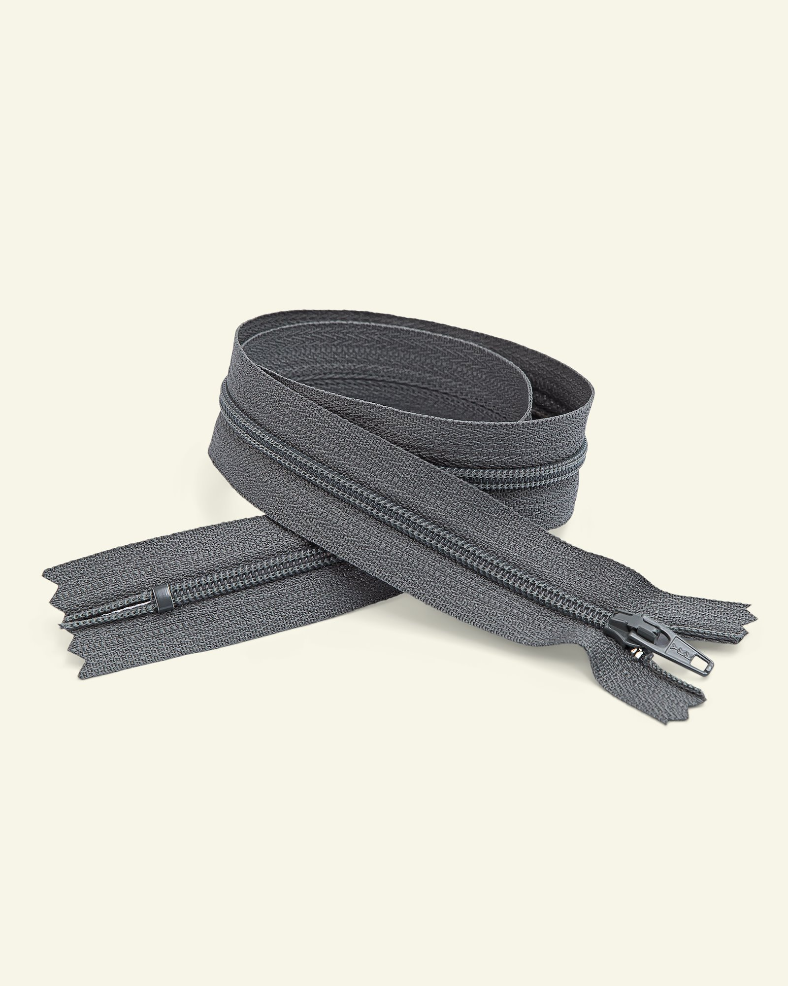 YKK zip 4mm coil closed end grey