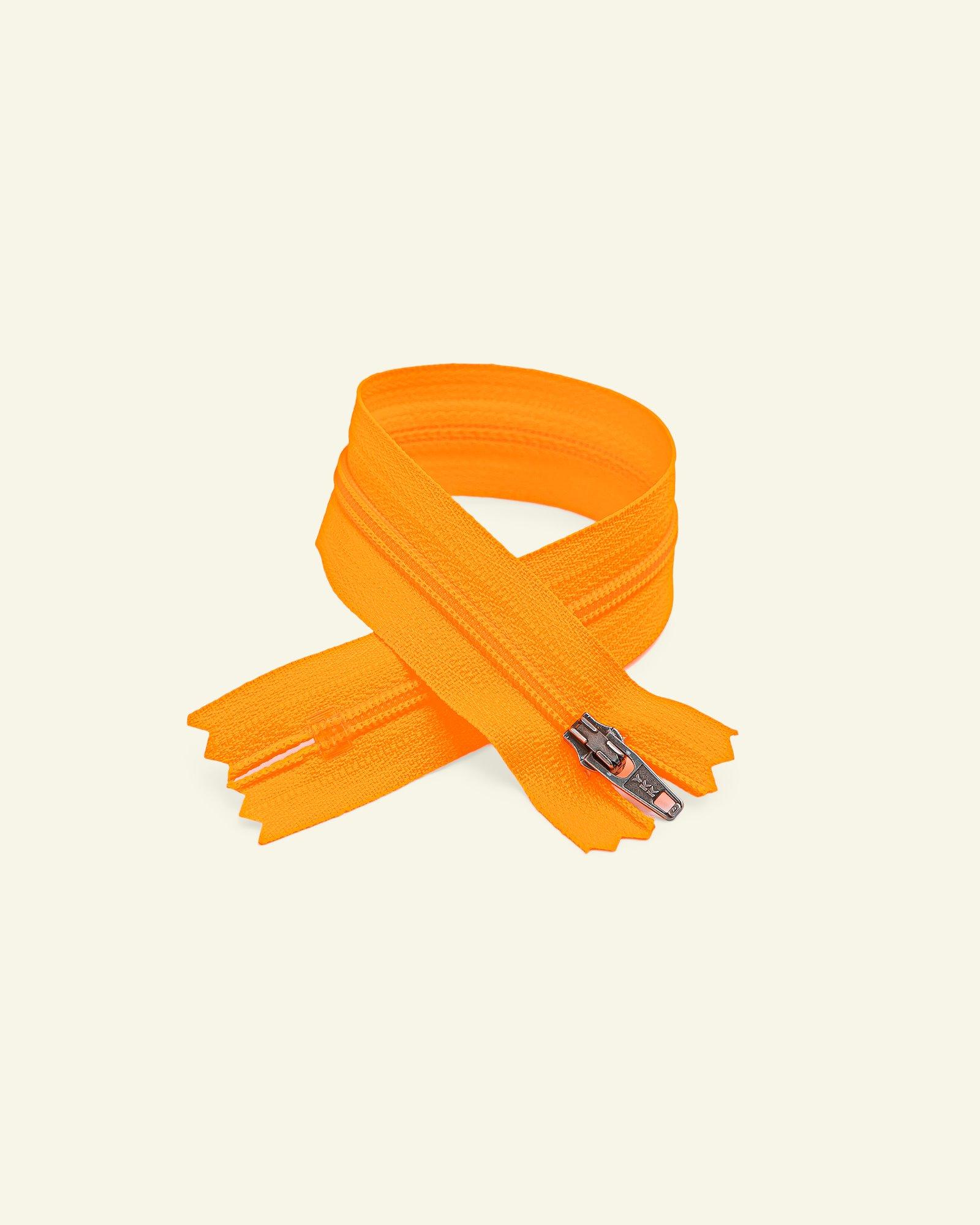 YKK zip 4mm coil closed end neon orange