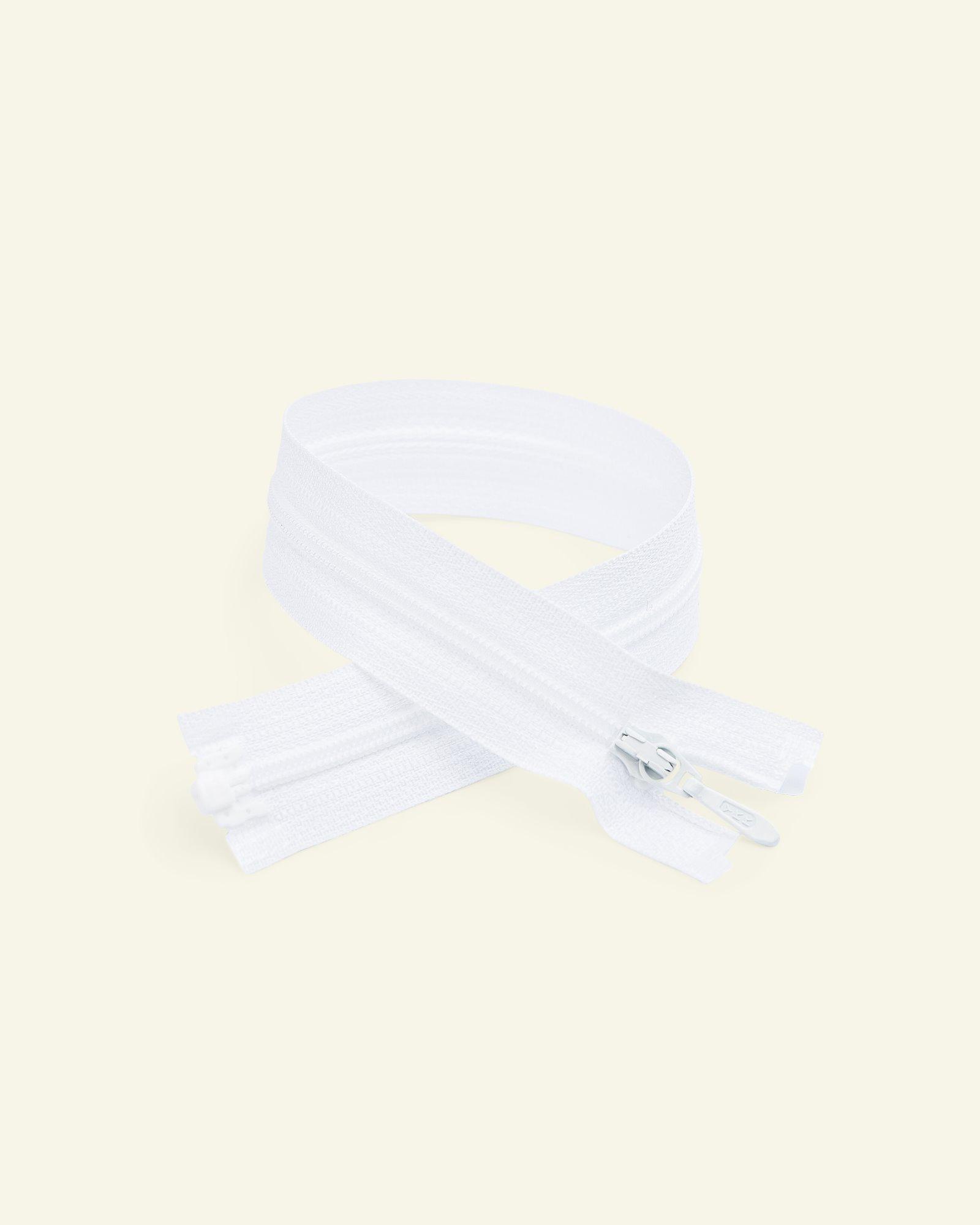 YKK zip 4mm coil open end white