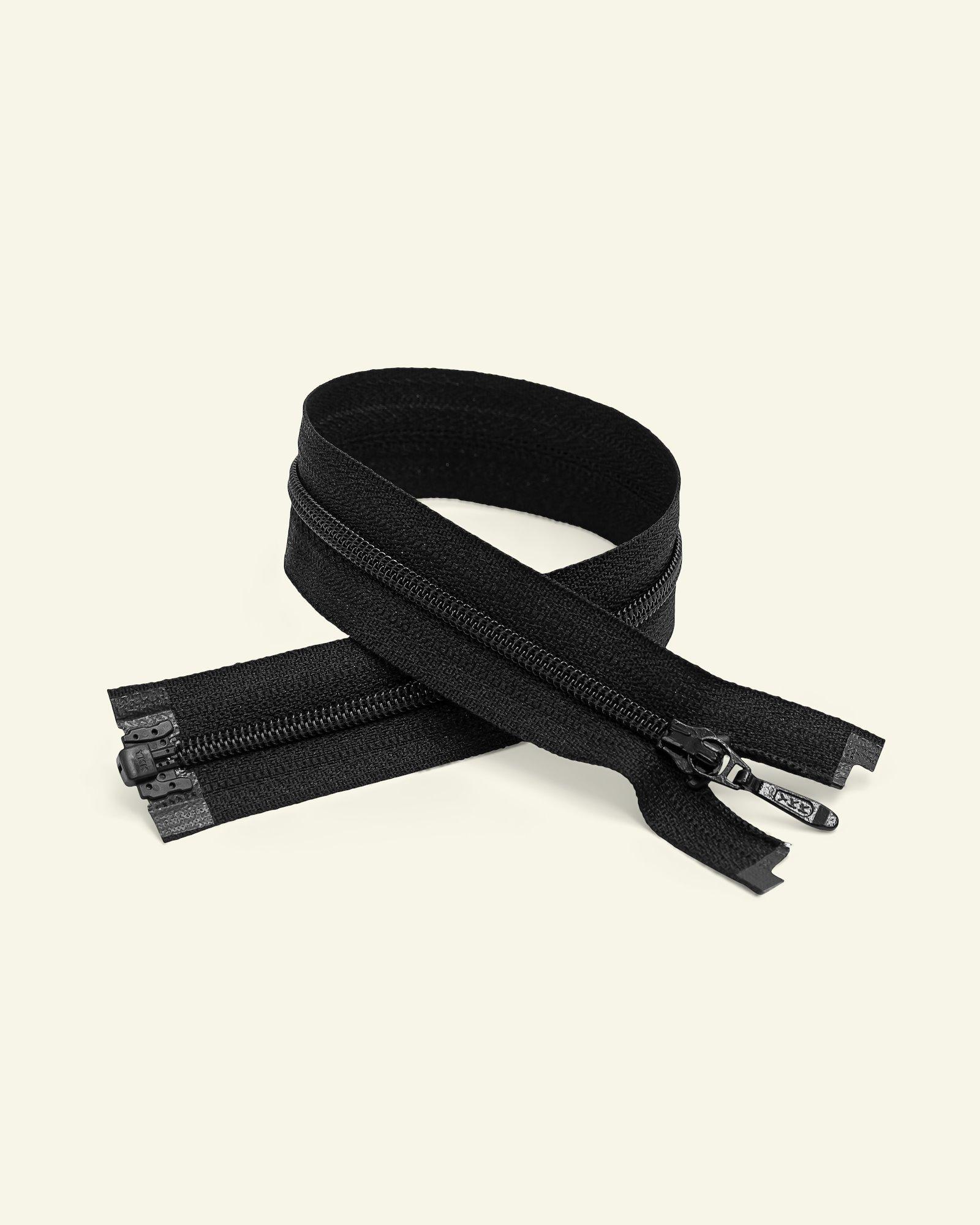 YKK zip 4mm coil open end black