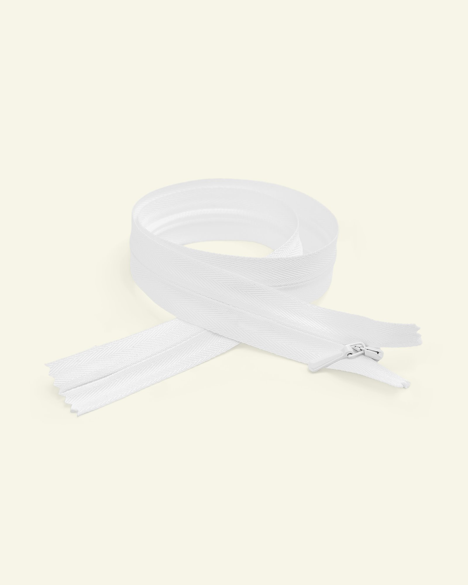 YKK zip 4mm invisible coil white