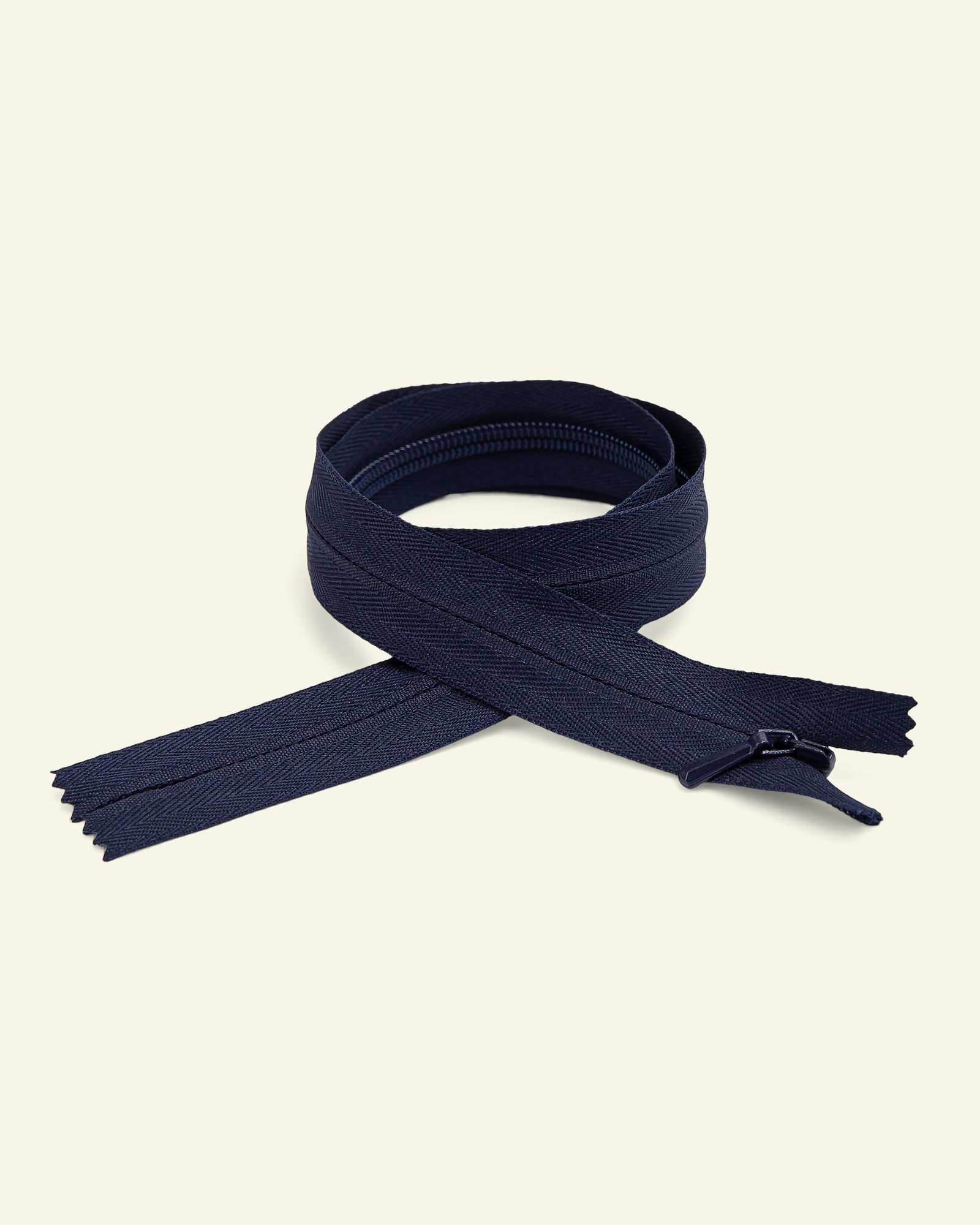 YKK zip 4mm invisible coil navy