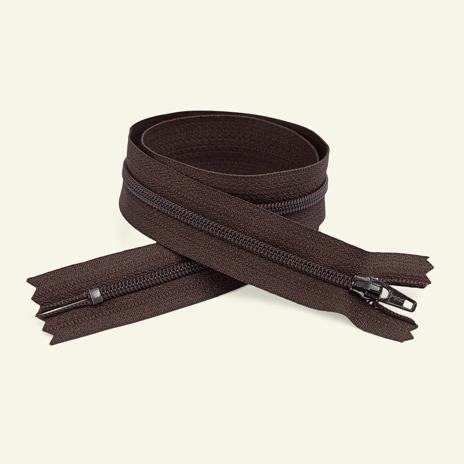 YKK zip 4mm closed end 15cm brown x40537_pack