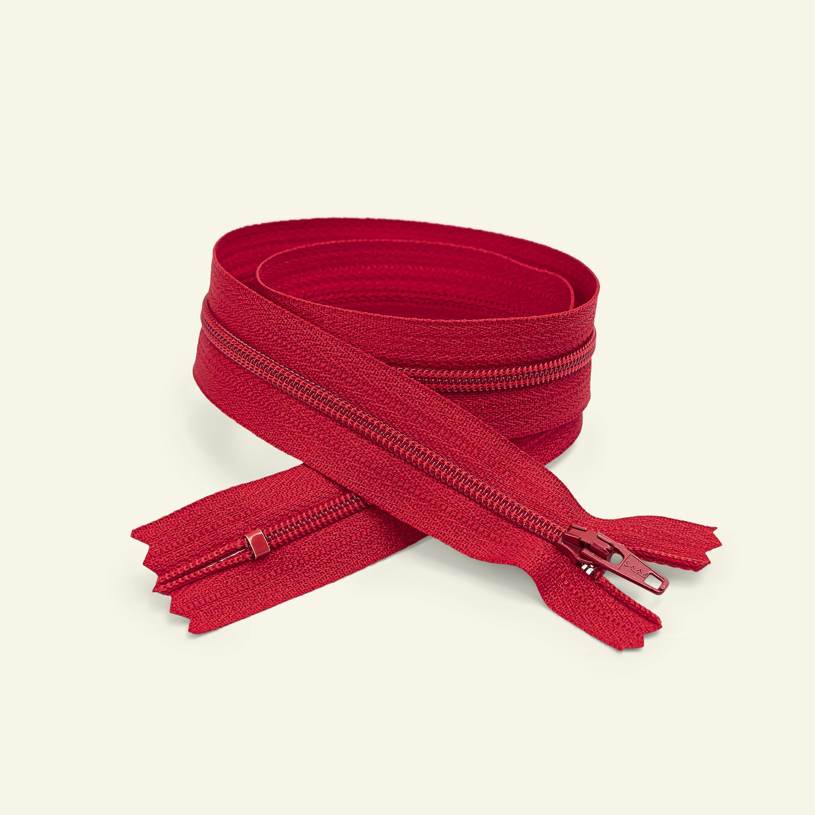 YKK zip 4mm closed end 15cm red x40511_pack