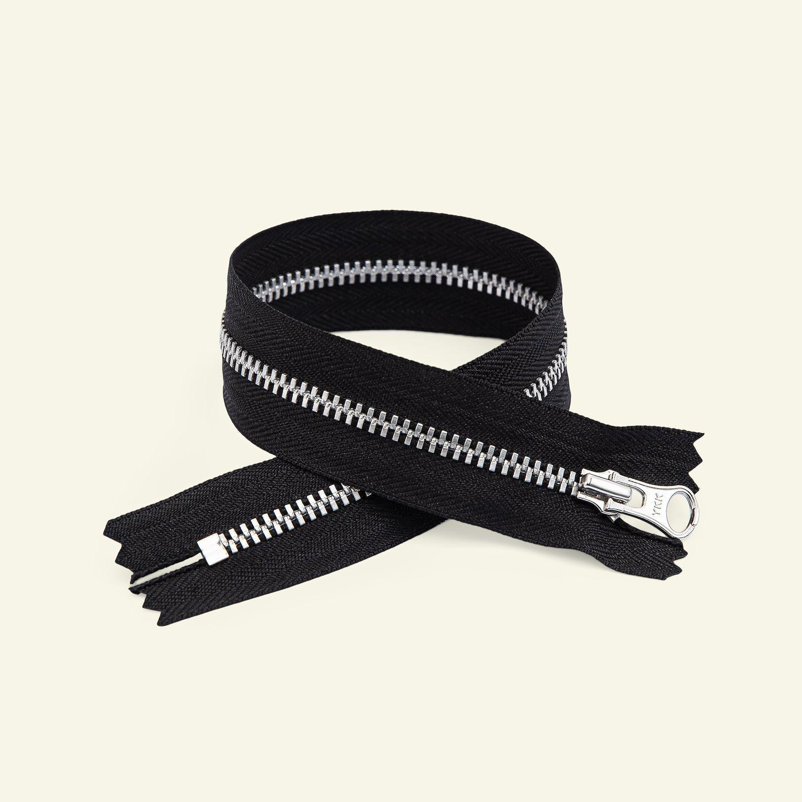 YKK zip 4mm closed end 18cm black/silver x59687_pack