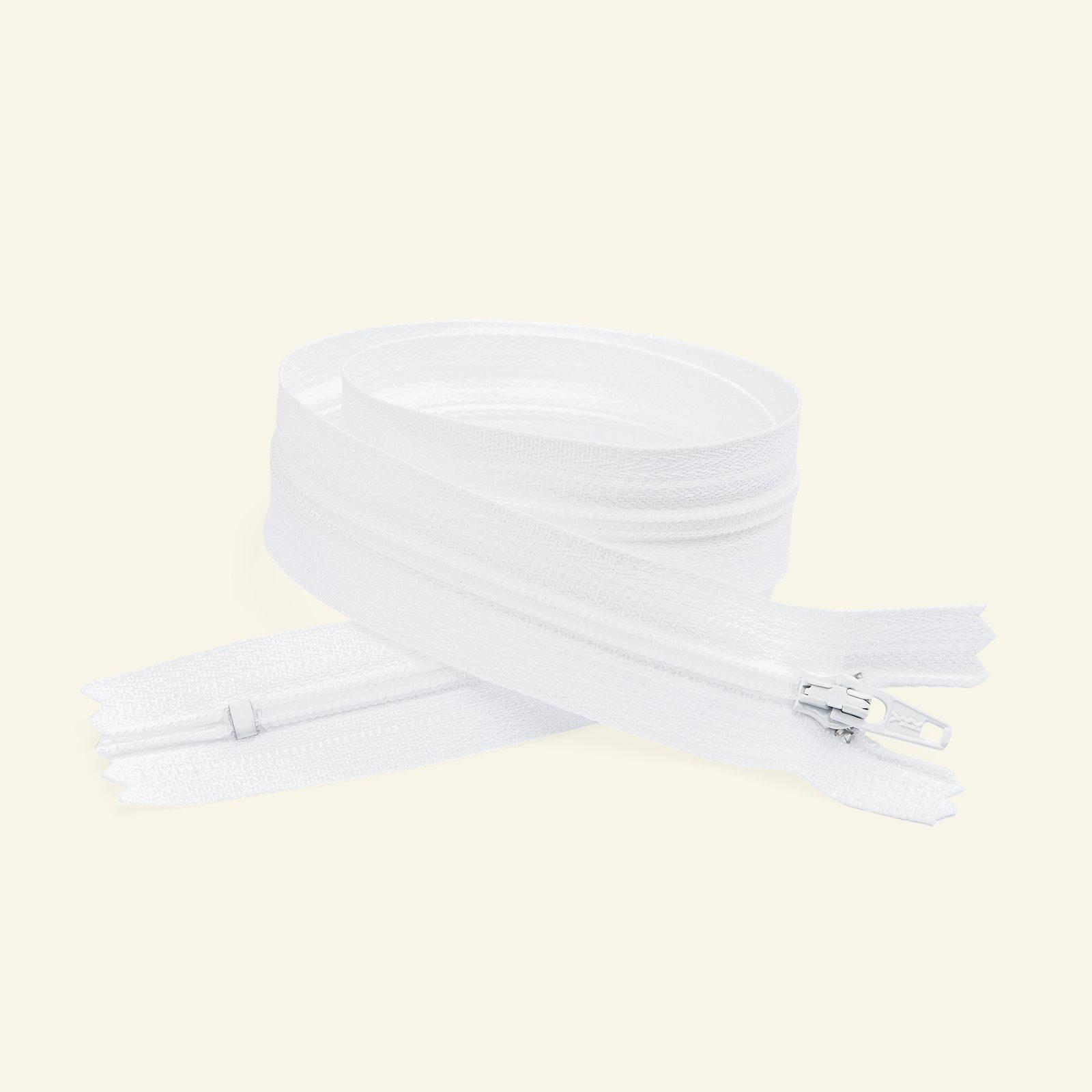 YKK zip 4mm closed end 18cm white x40501_pack