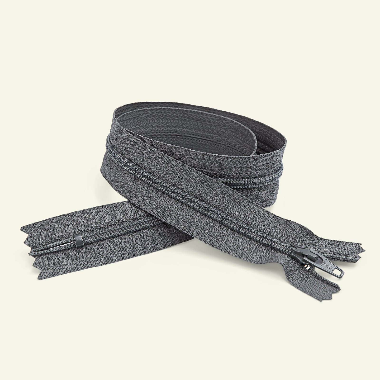 YKK zip 4mm closed end 20cm grey x40541_pack