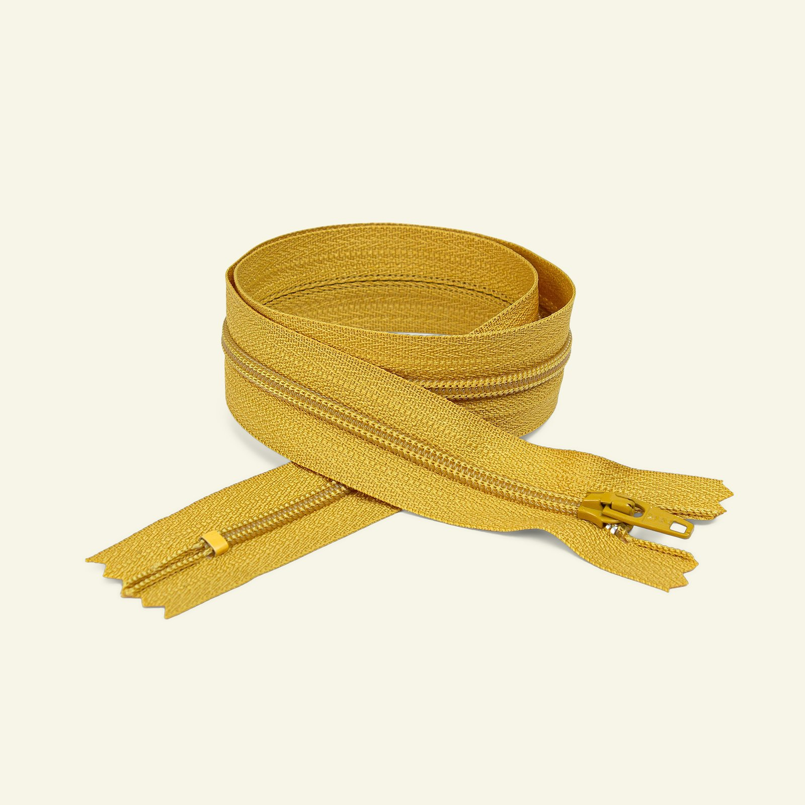 YKK zip 4mm closed end 25cm curry x40535_pack