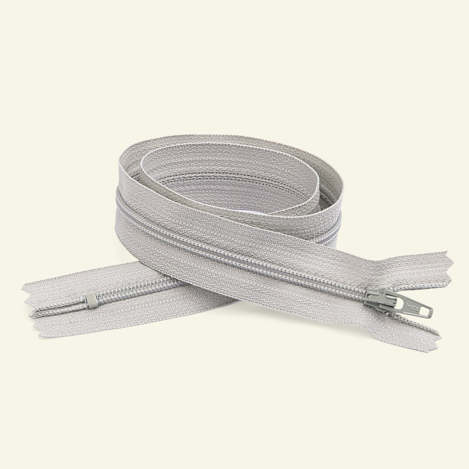 YKK zip 4mm closed end 55cm lt grey x40540_pack