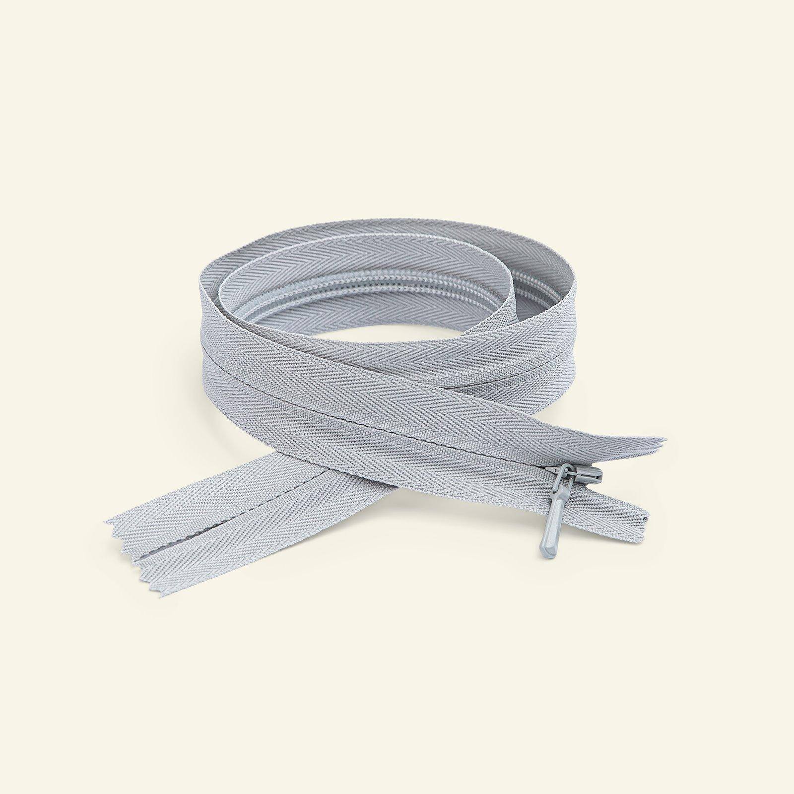 YKK zip 4mm invis closed 45cm soft gre x40739_pack