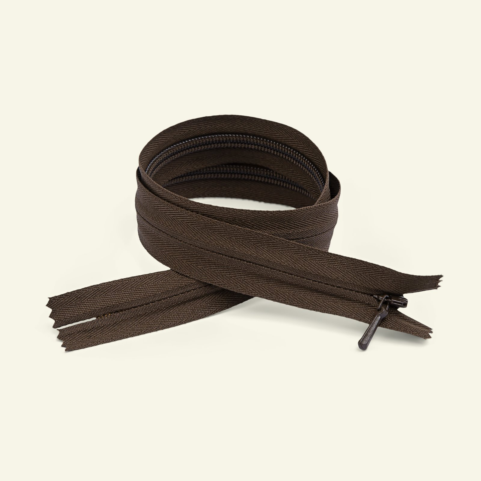 YKK zip 4mm invisible closed 25cm brown x40737_pack