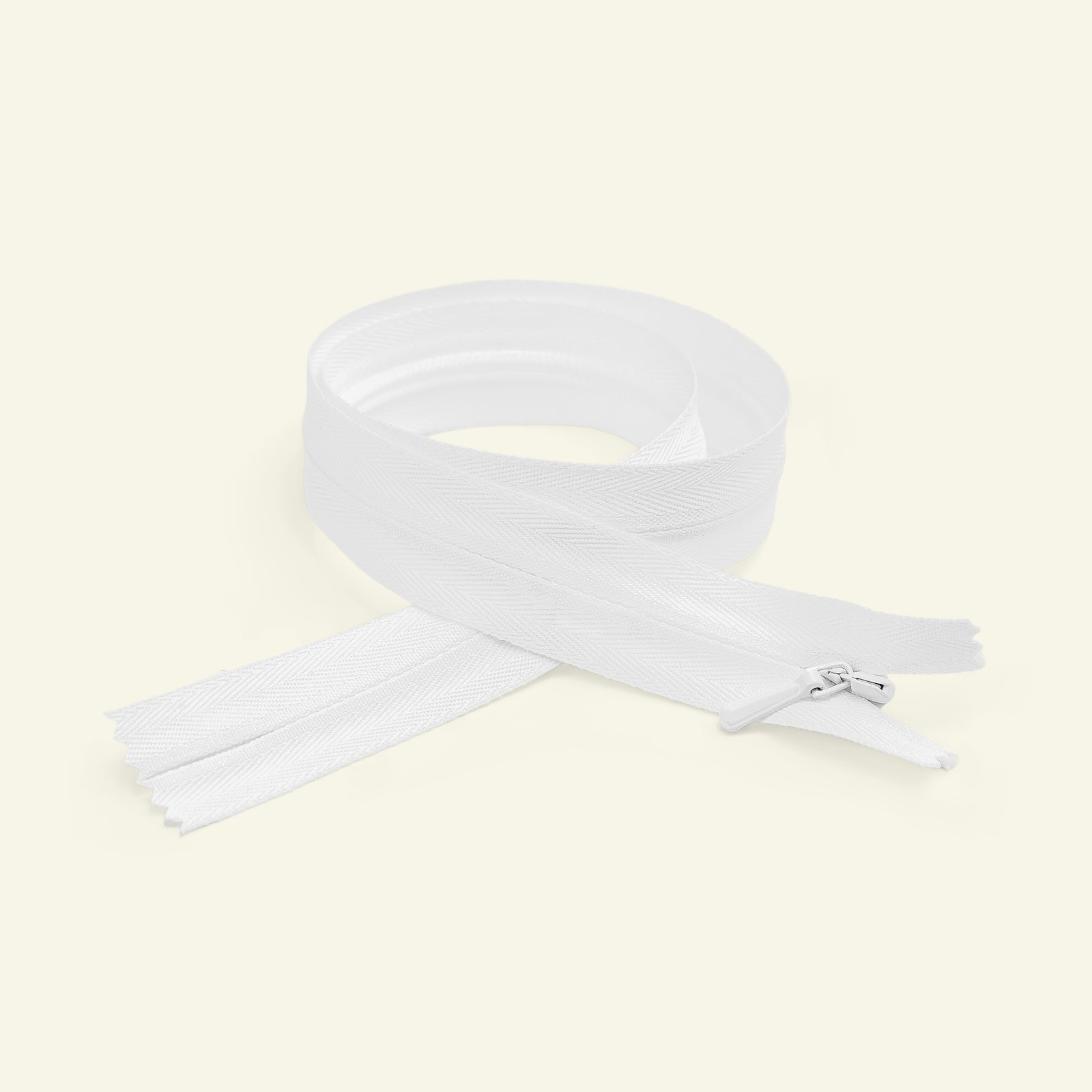 YKK zip 4mm invisible closed 25cm white x40701_pack