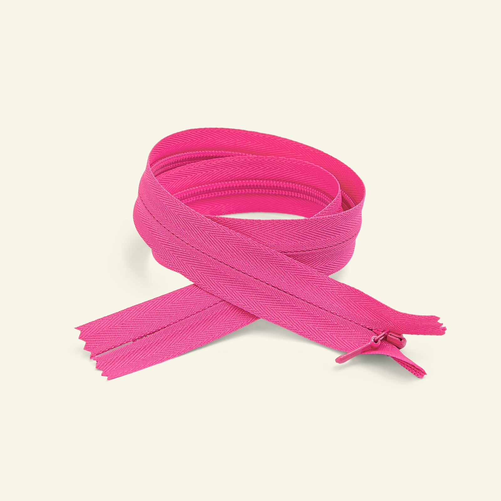 YKK zip 4mm invisible closed 35cm pink x40710_pack