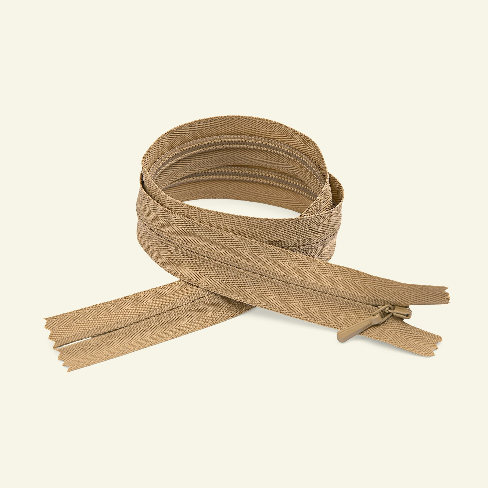 YKK zip 4mm invisible closed 60cm sand x40738_pack