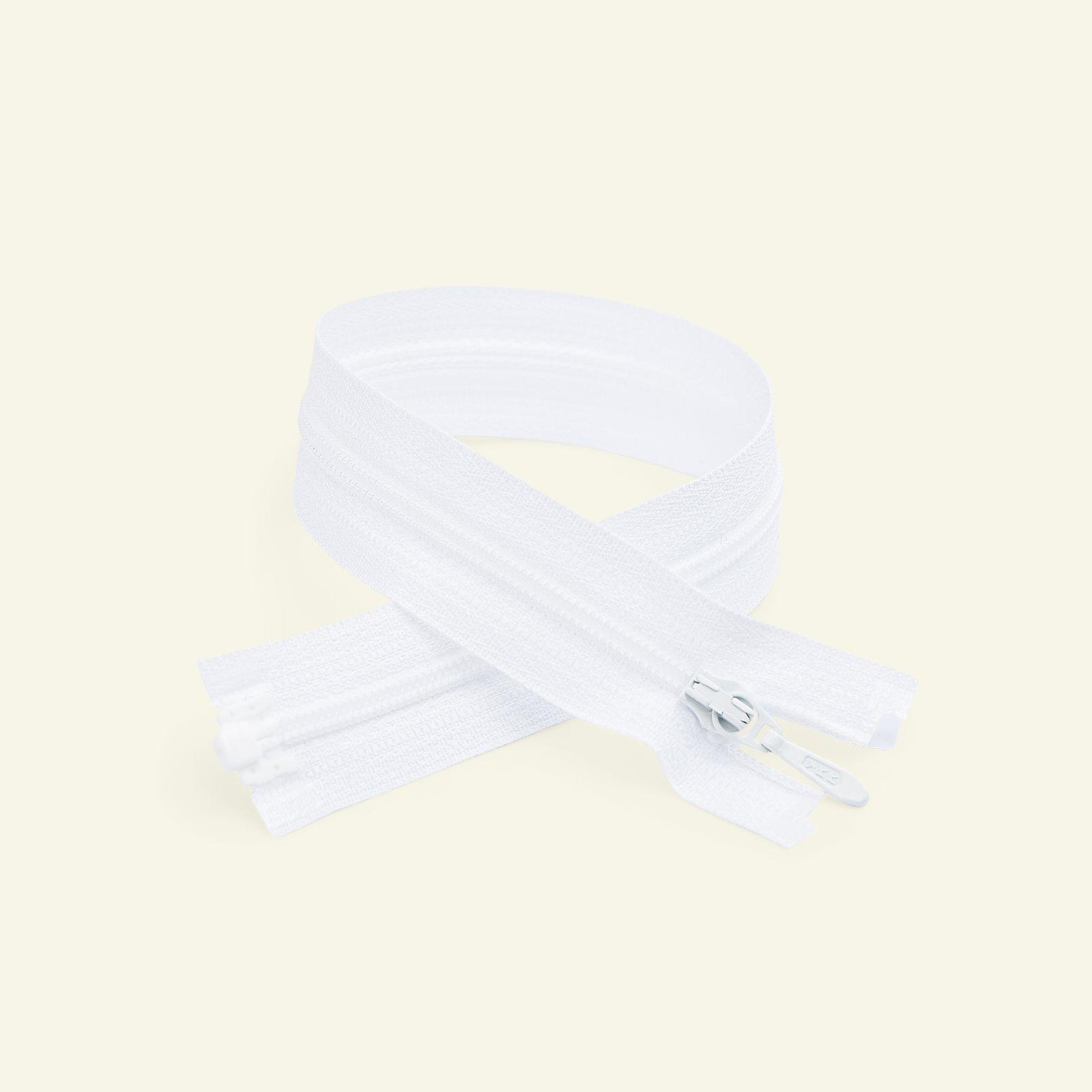 YKK zip 4mm open end 20cm white x40601_pack