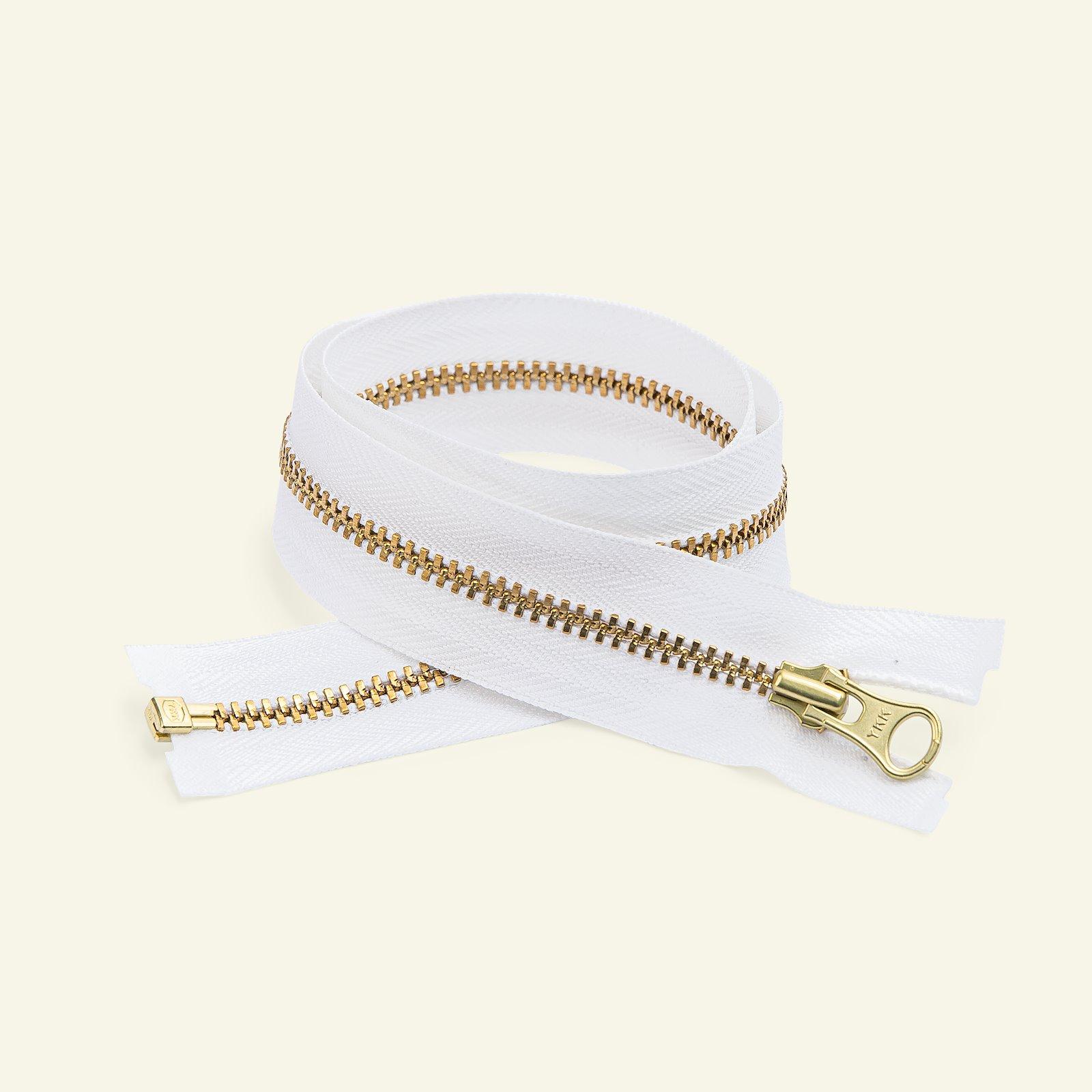 YKK zip 4mm open end 60cm white/gold x59701_pack