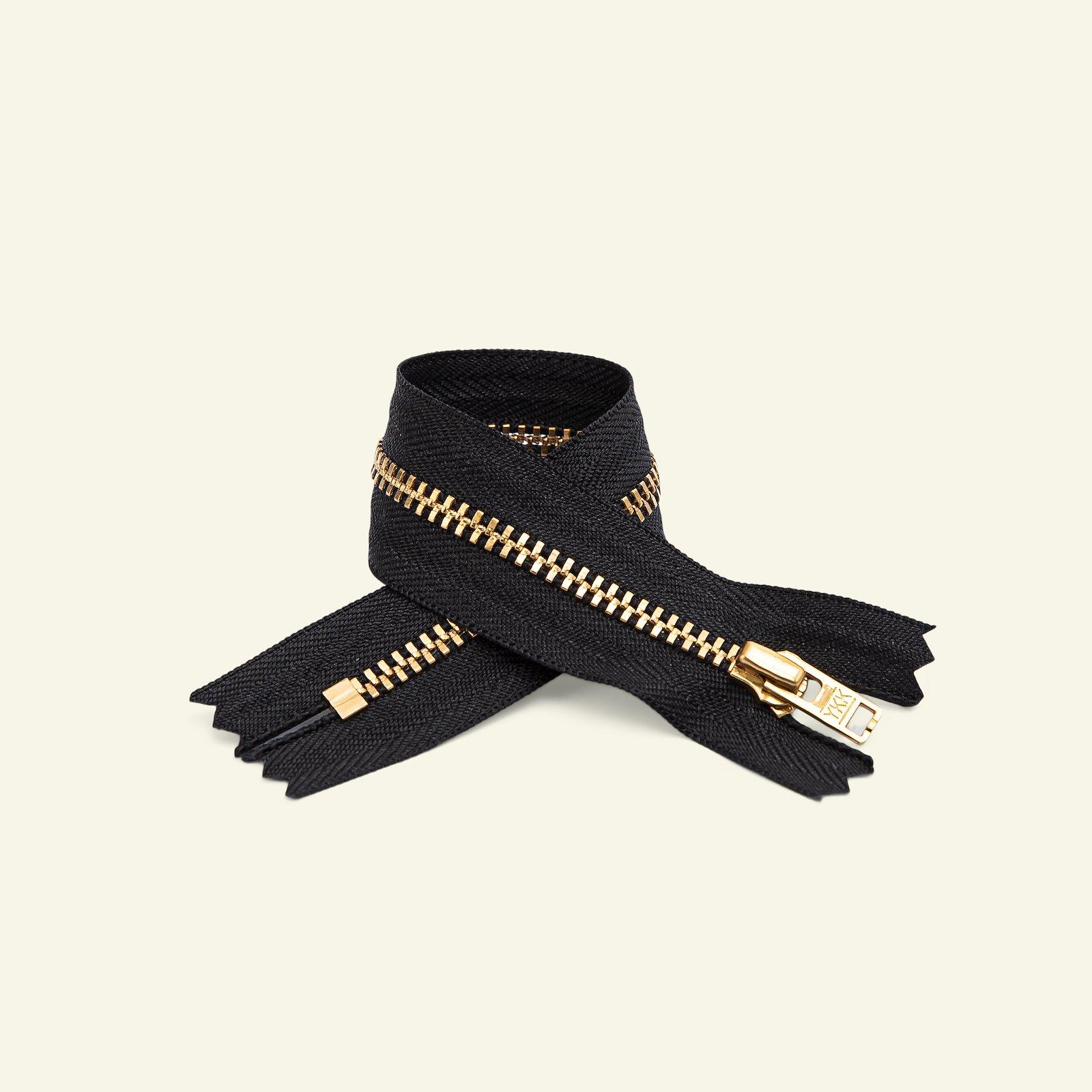 YKK zip 4mm trousers closed 15cm black x40043_pack